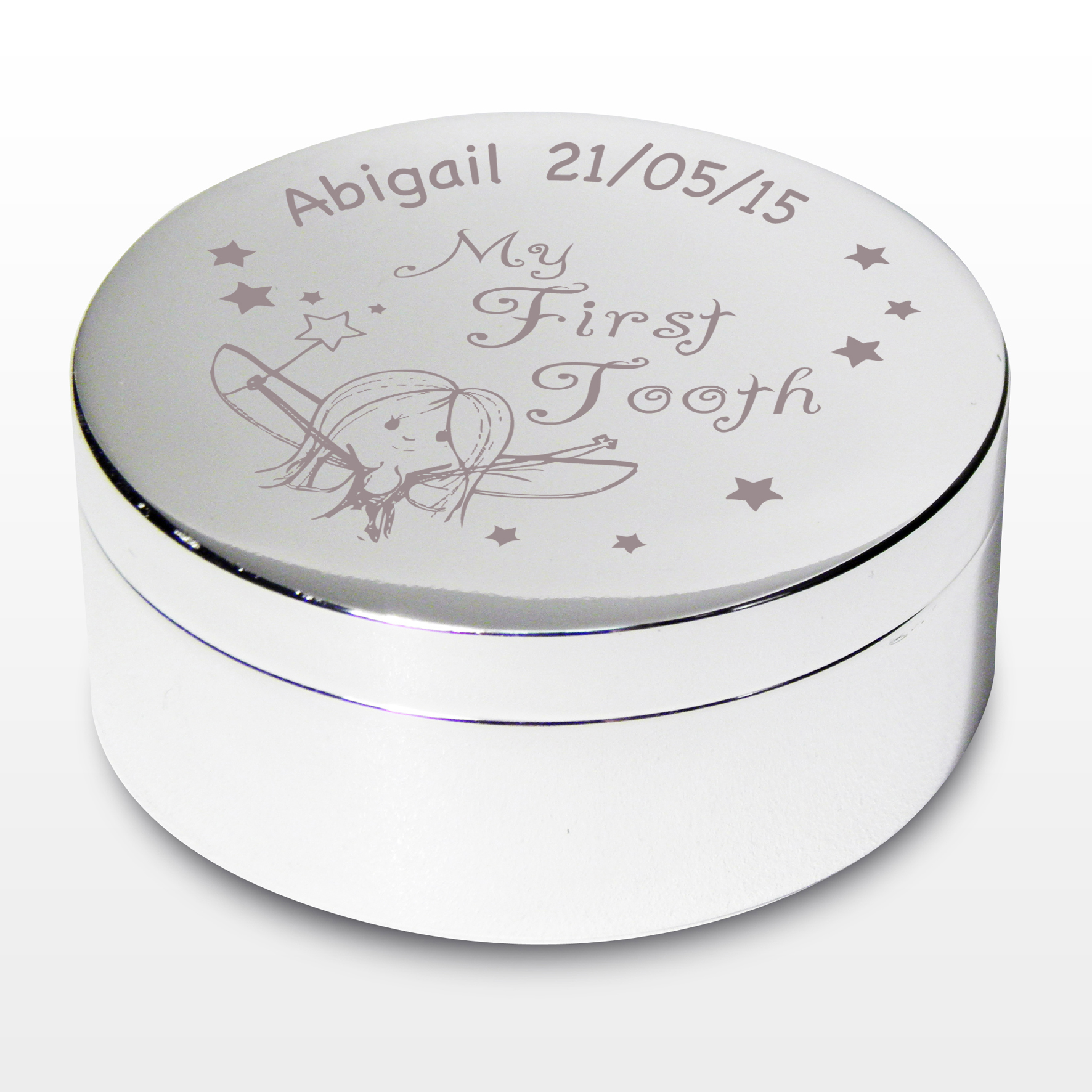 Engraved My First Tooth Fairy Trinket Box