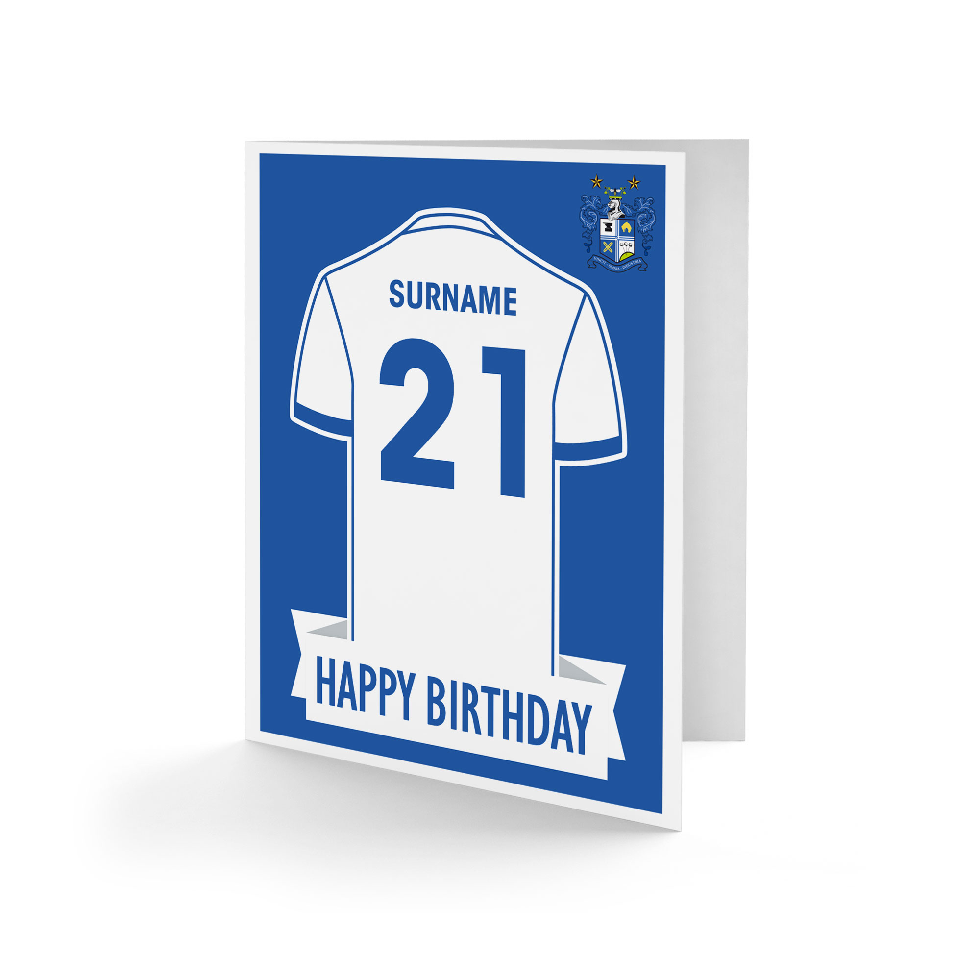 Bury FC Shirt Birthday Card