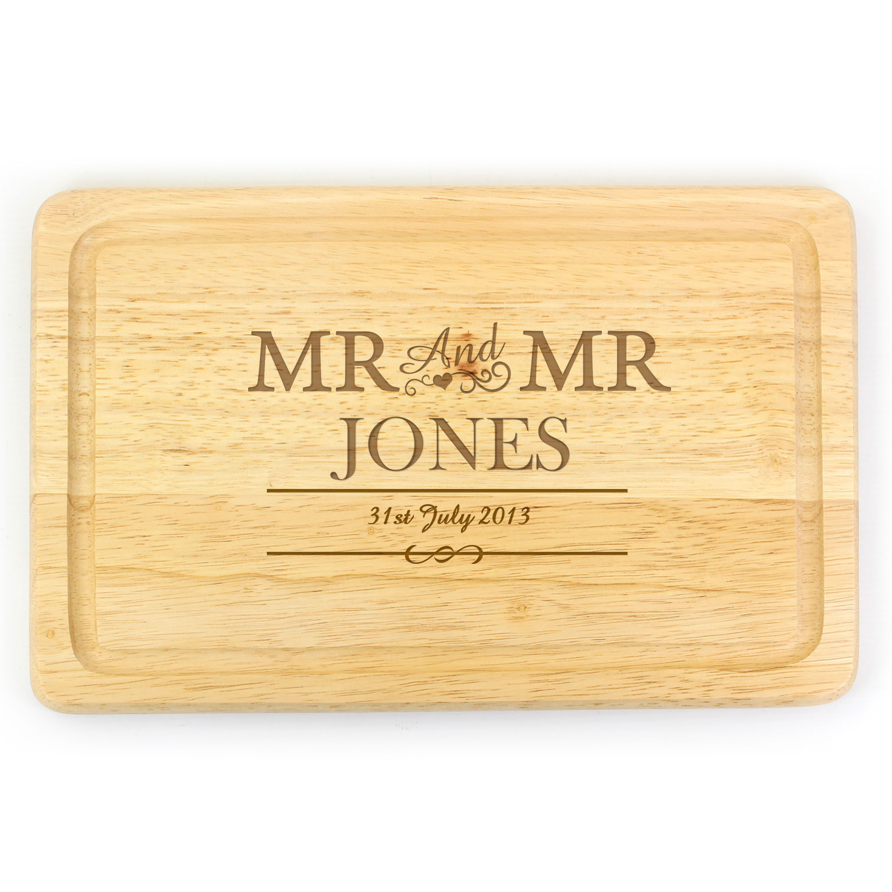 Engraved Mr & Mr Large Chopping Board