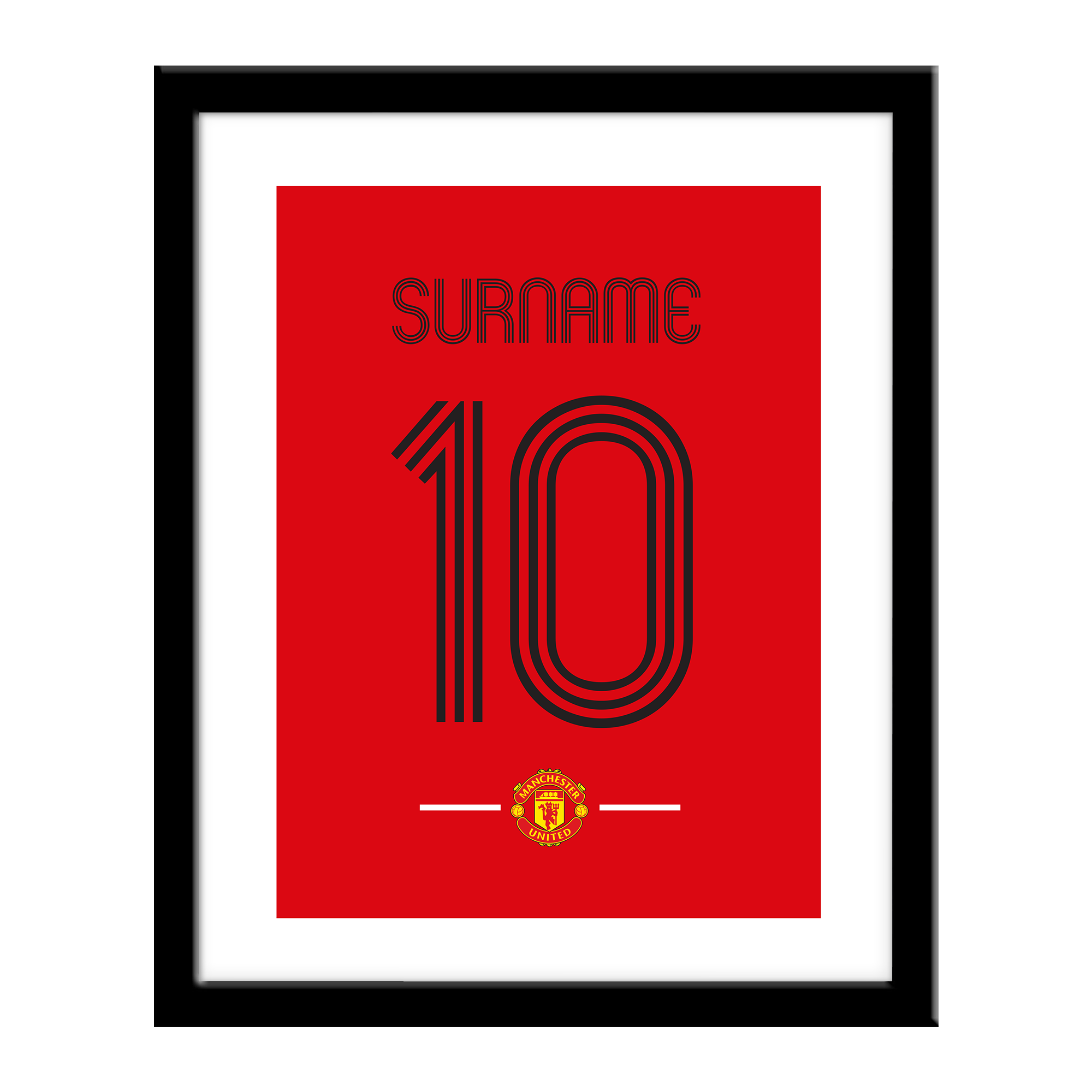 Manchester United FC Retro Shirt Print