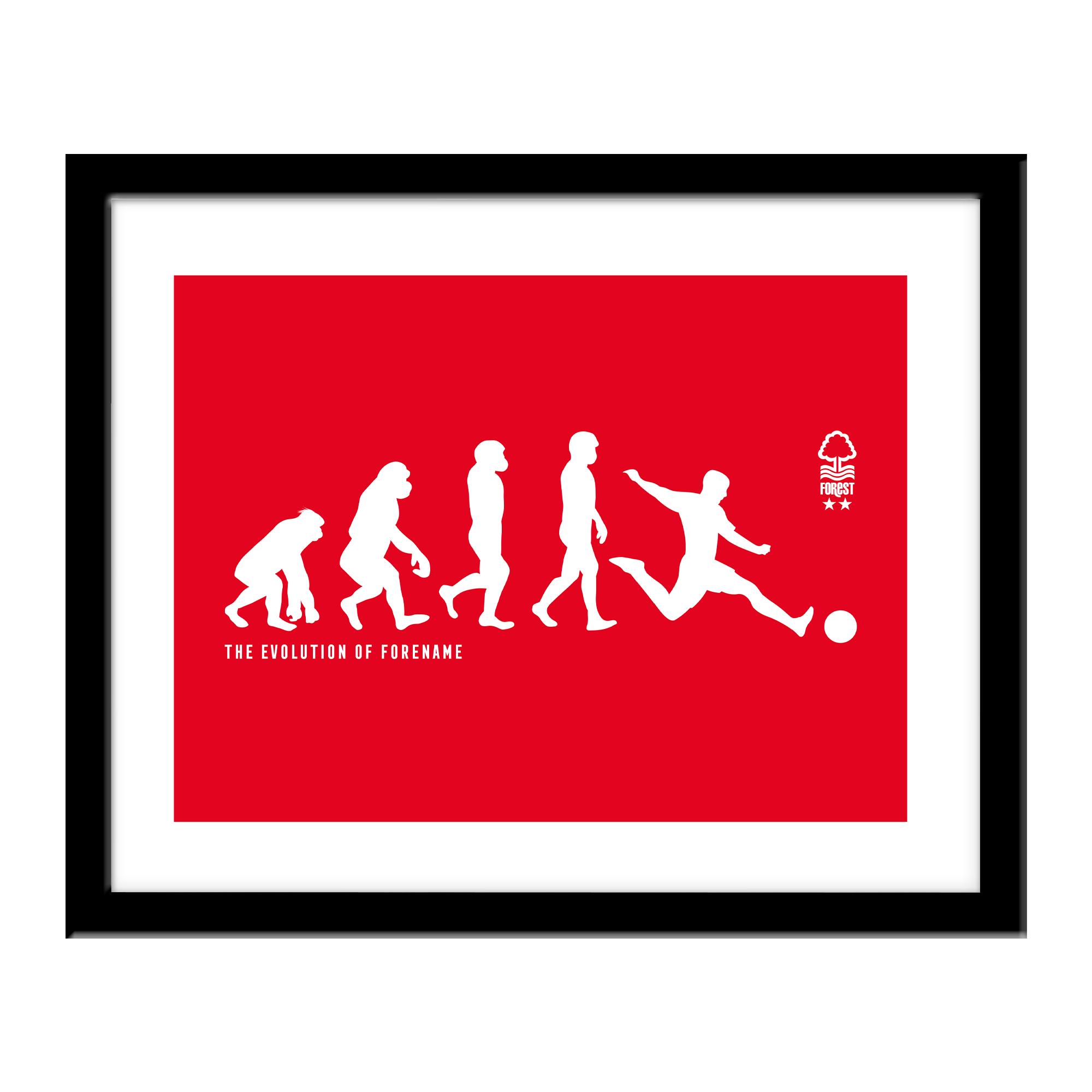 Nottingham Forest FC Evolution Print