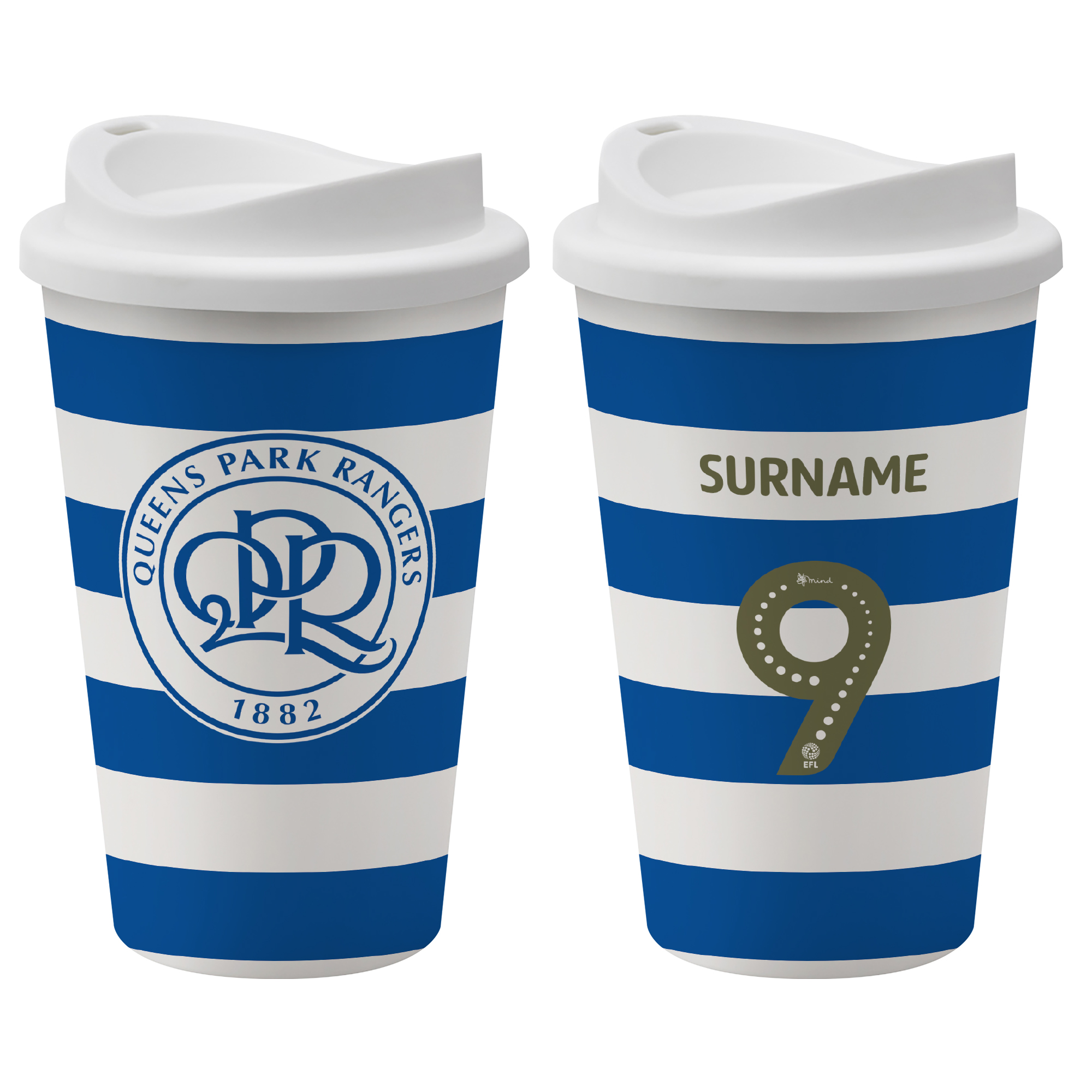 Queens Park Rangers FC Back of Shirt Reusable Cup