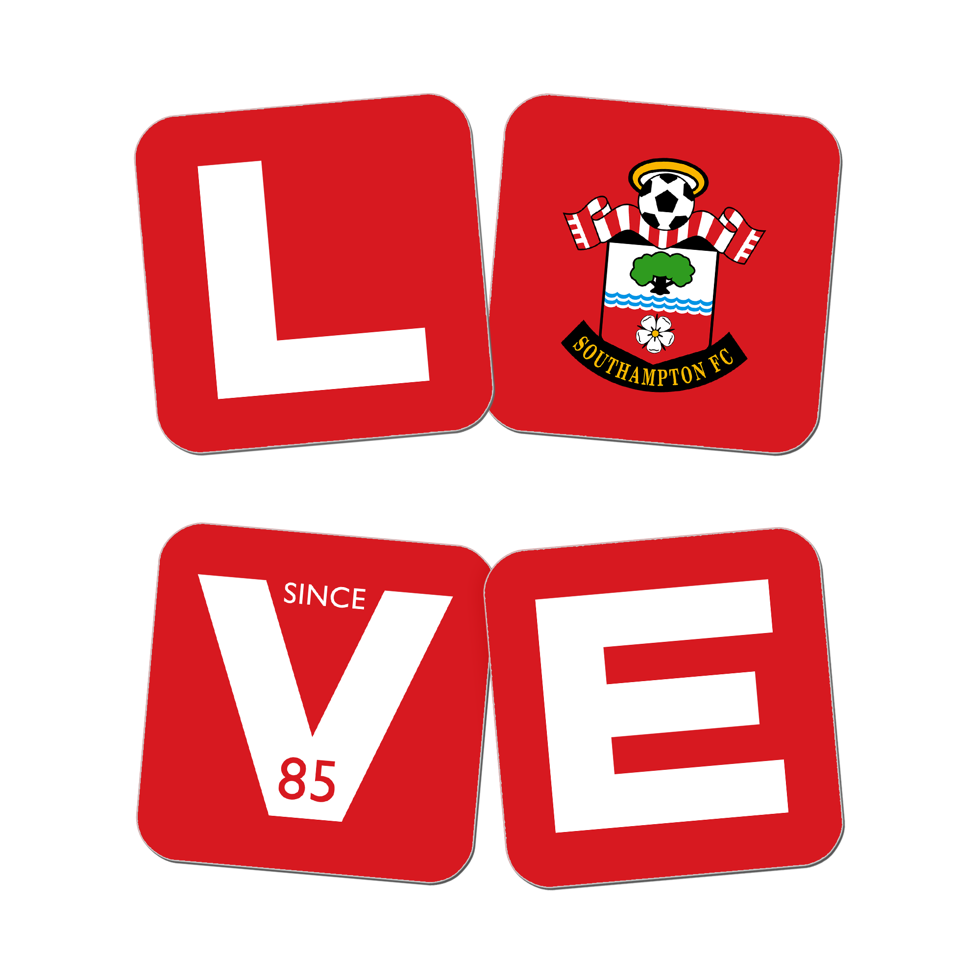 Southampton FC Love Coasters (x4)