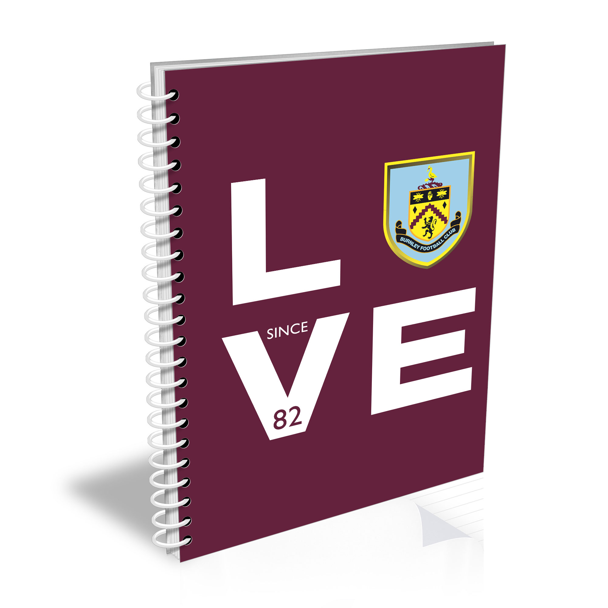 Burnley FC Love Notebook