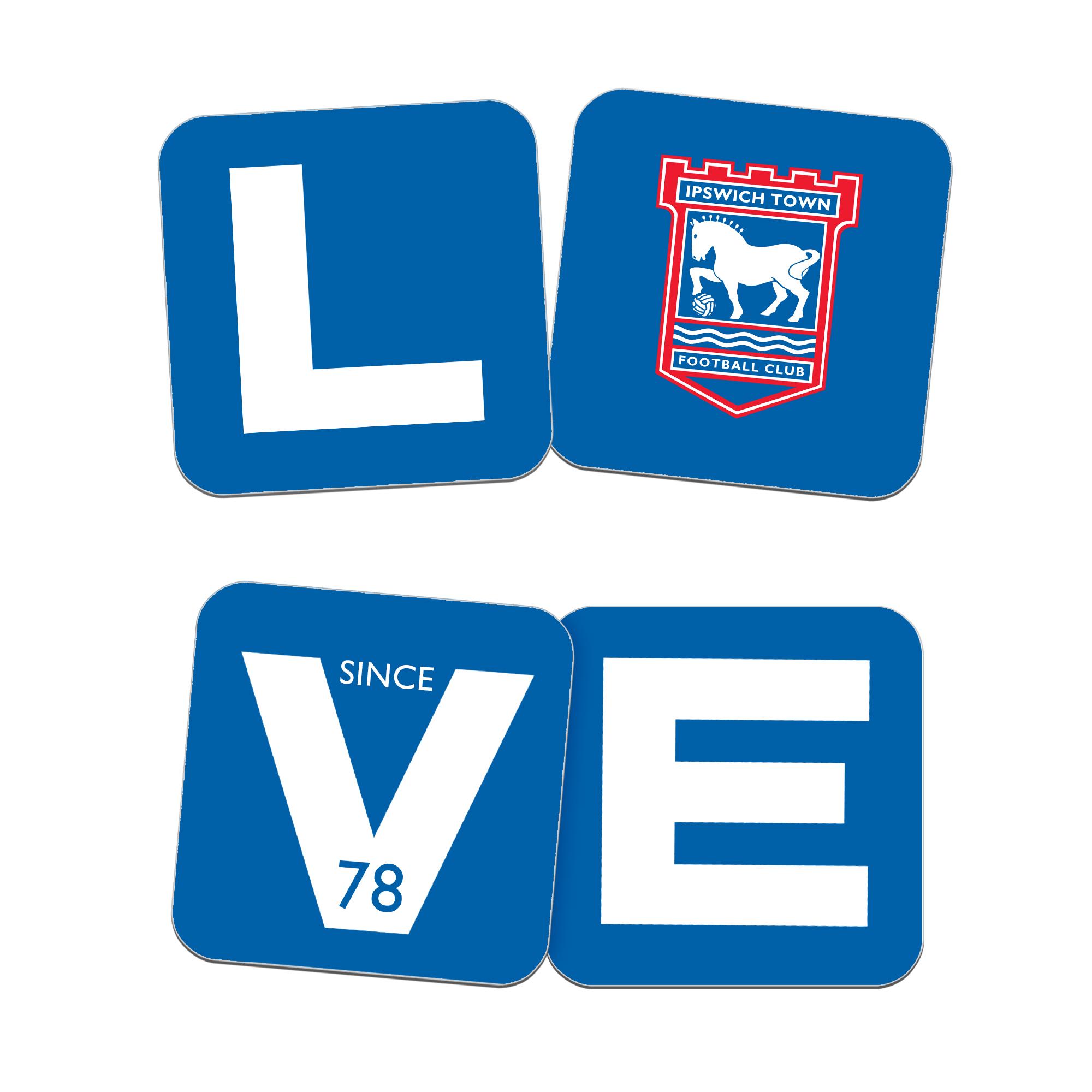 Ipswich Town FC Love Coasters (x4)