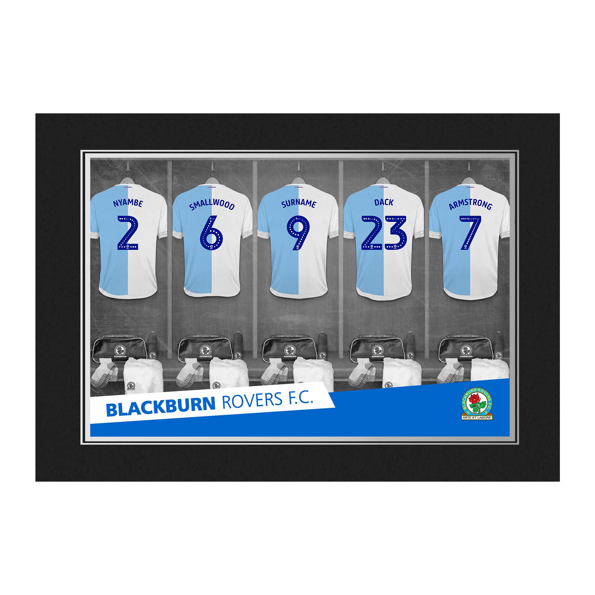 Blackburn Rovers FC 9x6 Dressing Room Photo Folder