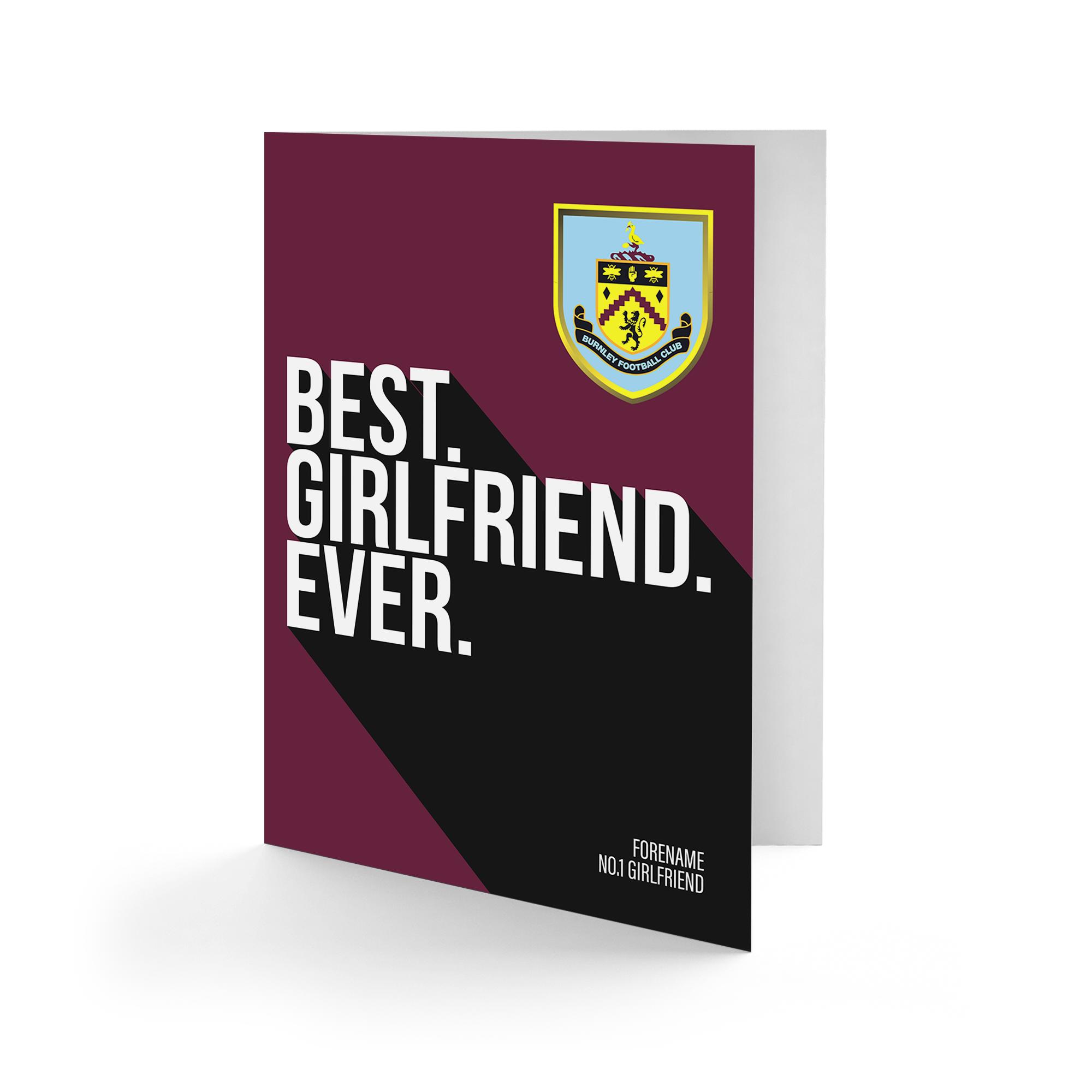 Burnley FC Best Girlfriend Ever Card