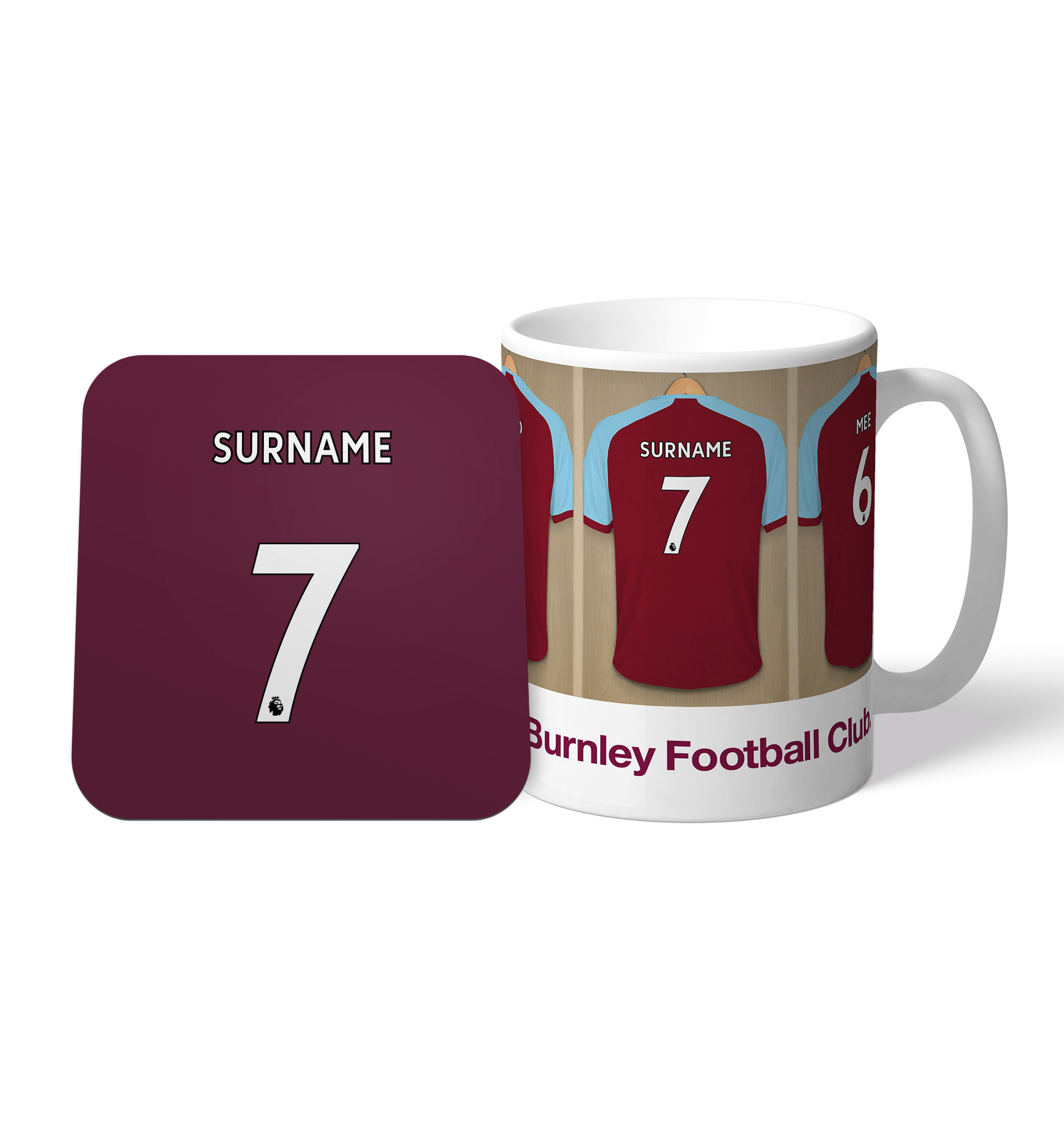 Burnley FC Dressing Room Mug & Coaster Set