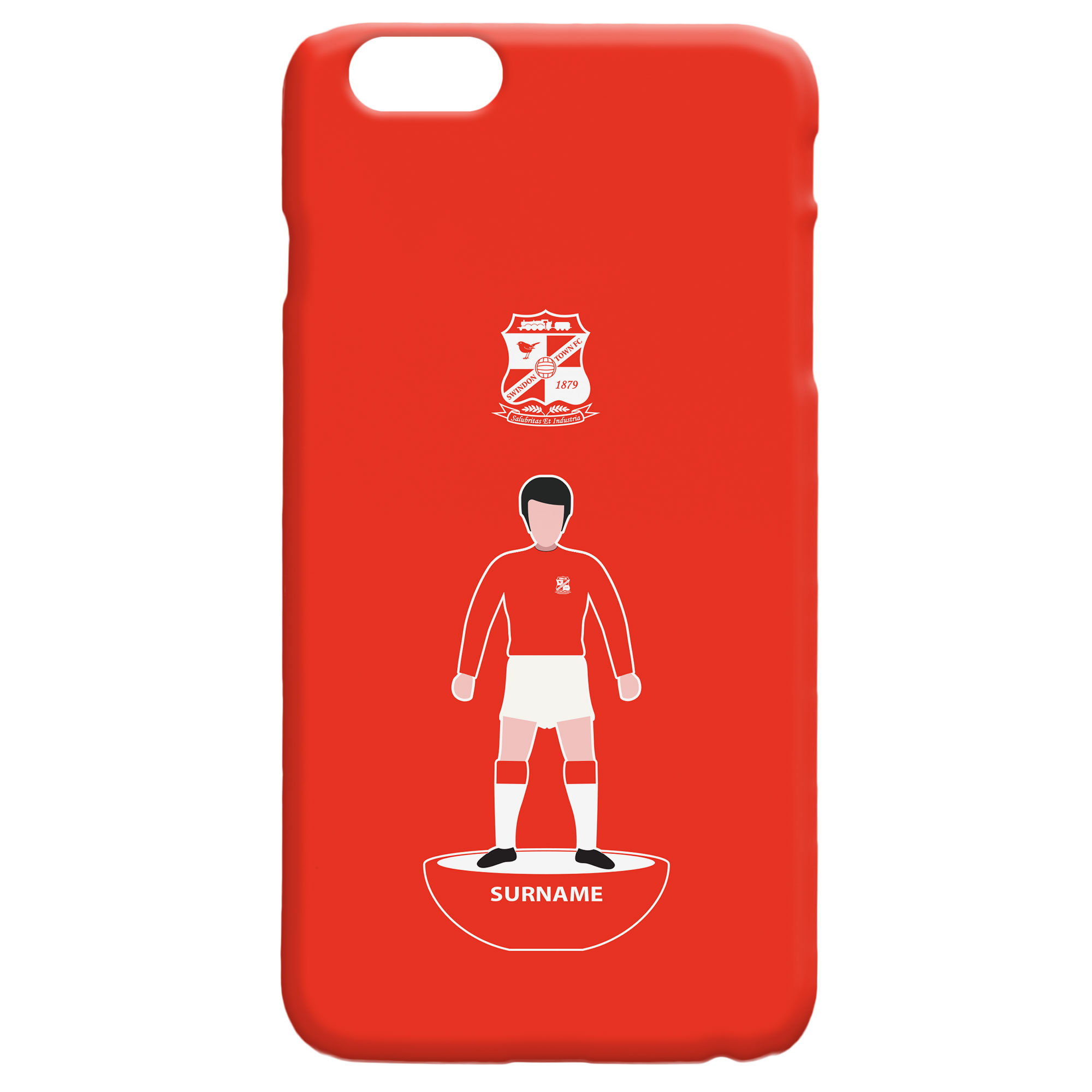 Swindon Town Player Figure Hard Back Phone Case