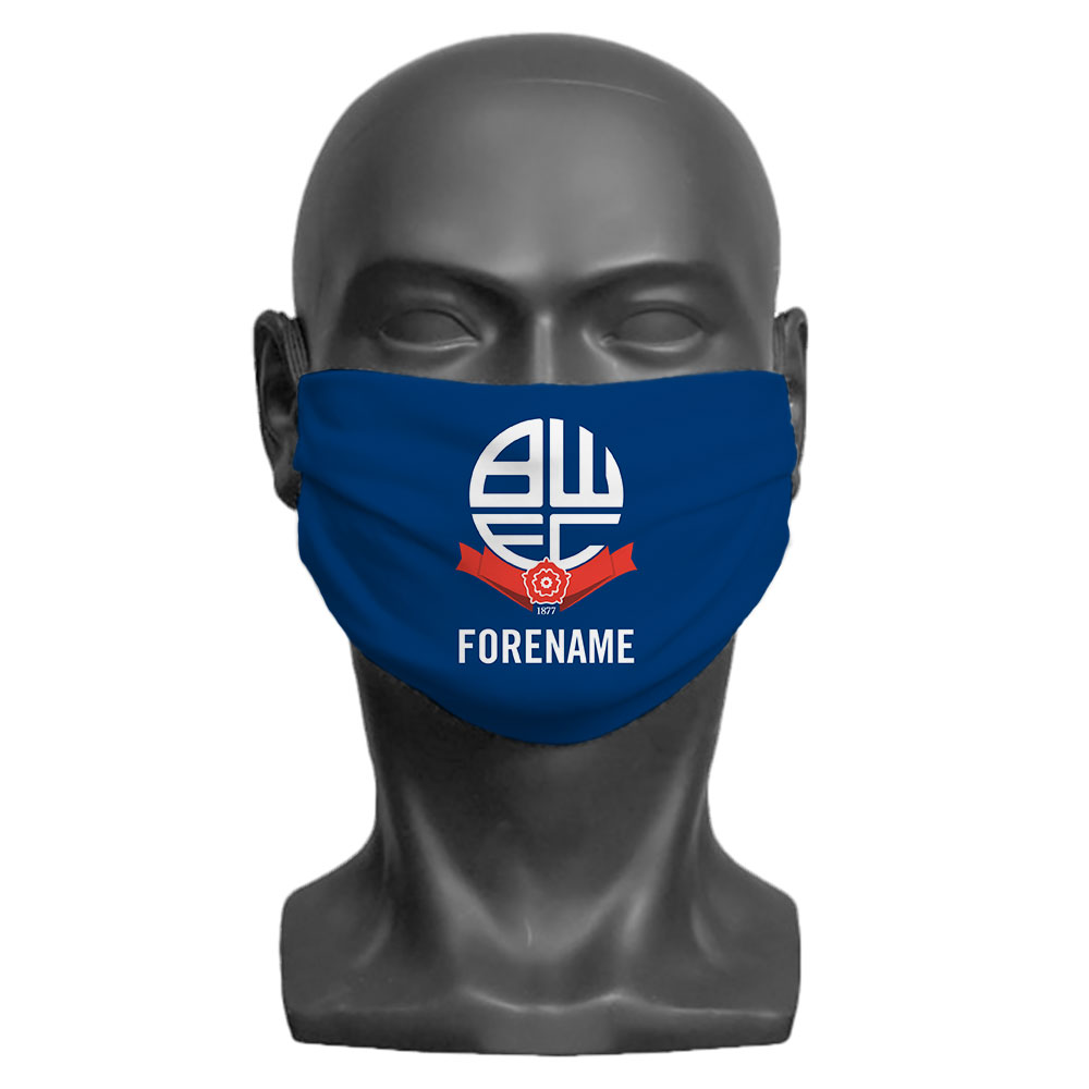 Bolton Wanderers FC Crest Adult Face Mask (Medium)