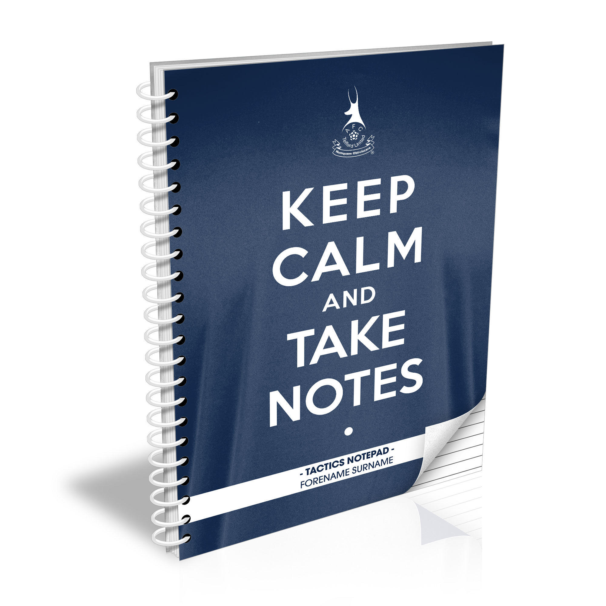 AFC Telford United Keep Calm Notebook