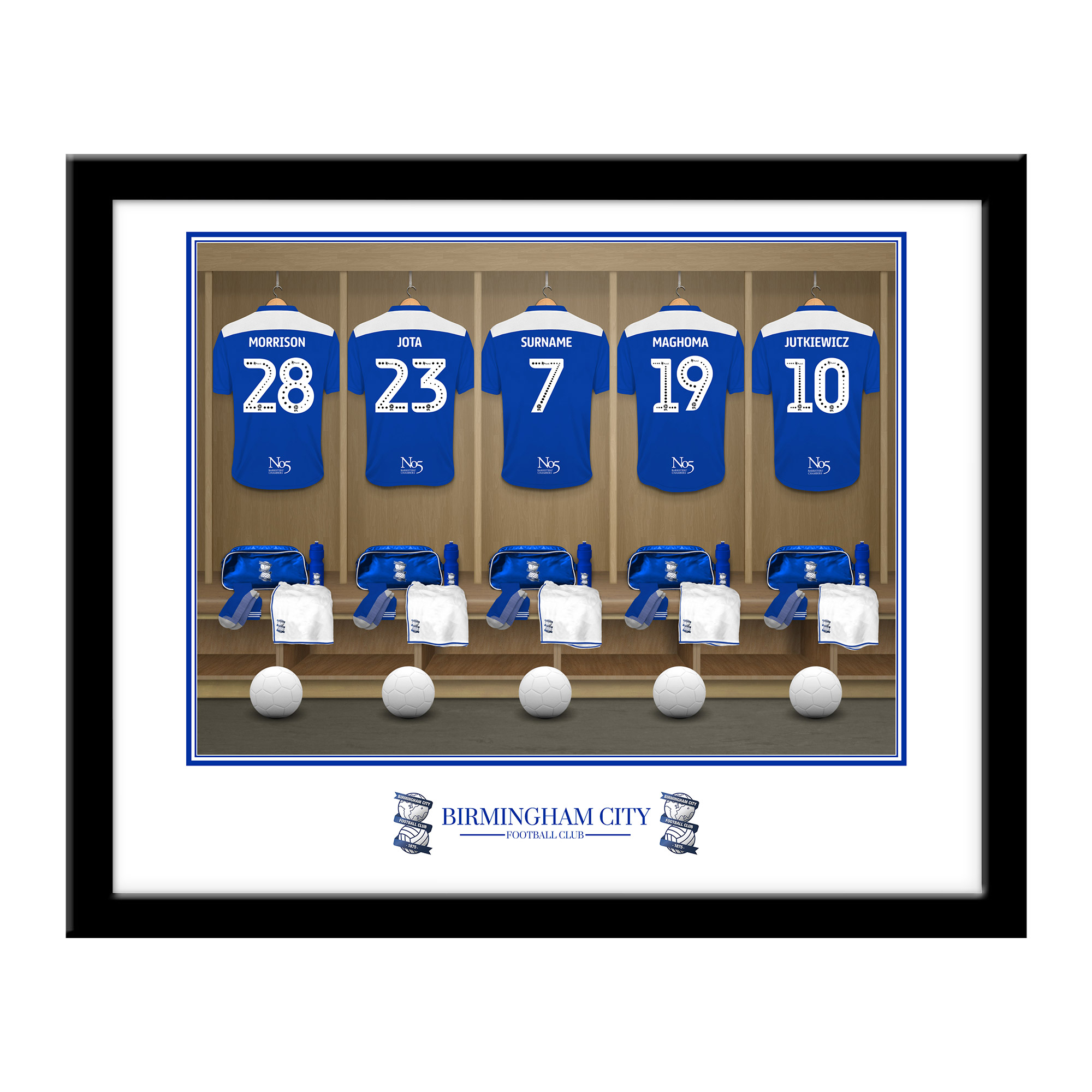 Birmingham City FC Dressing Room Framed Print