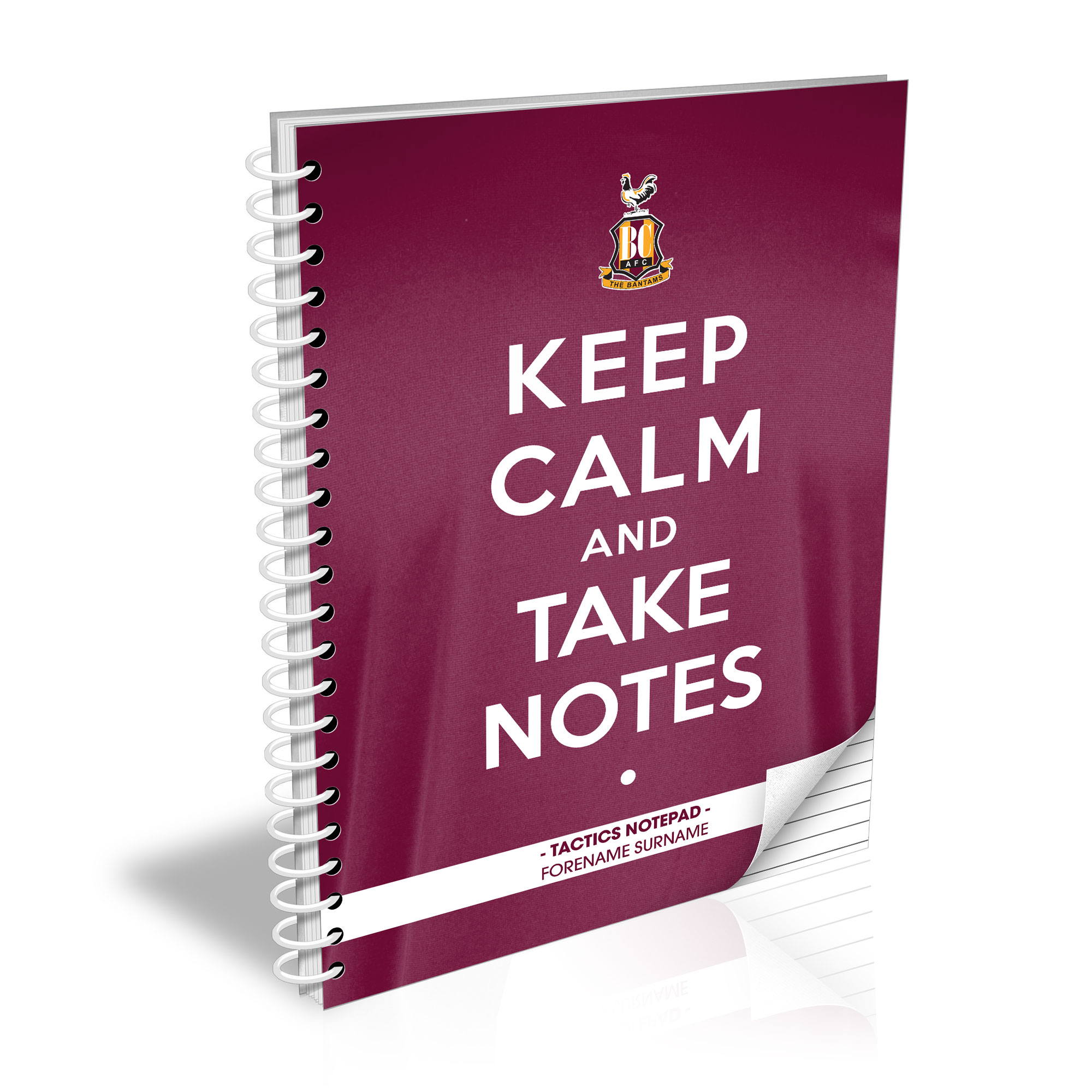 Bradford City AFC Keep Calm Notebook