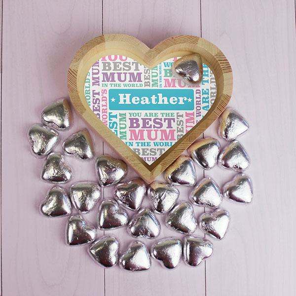 Best Mum - Chocolate Heart Tray - Small