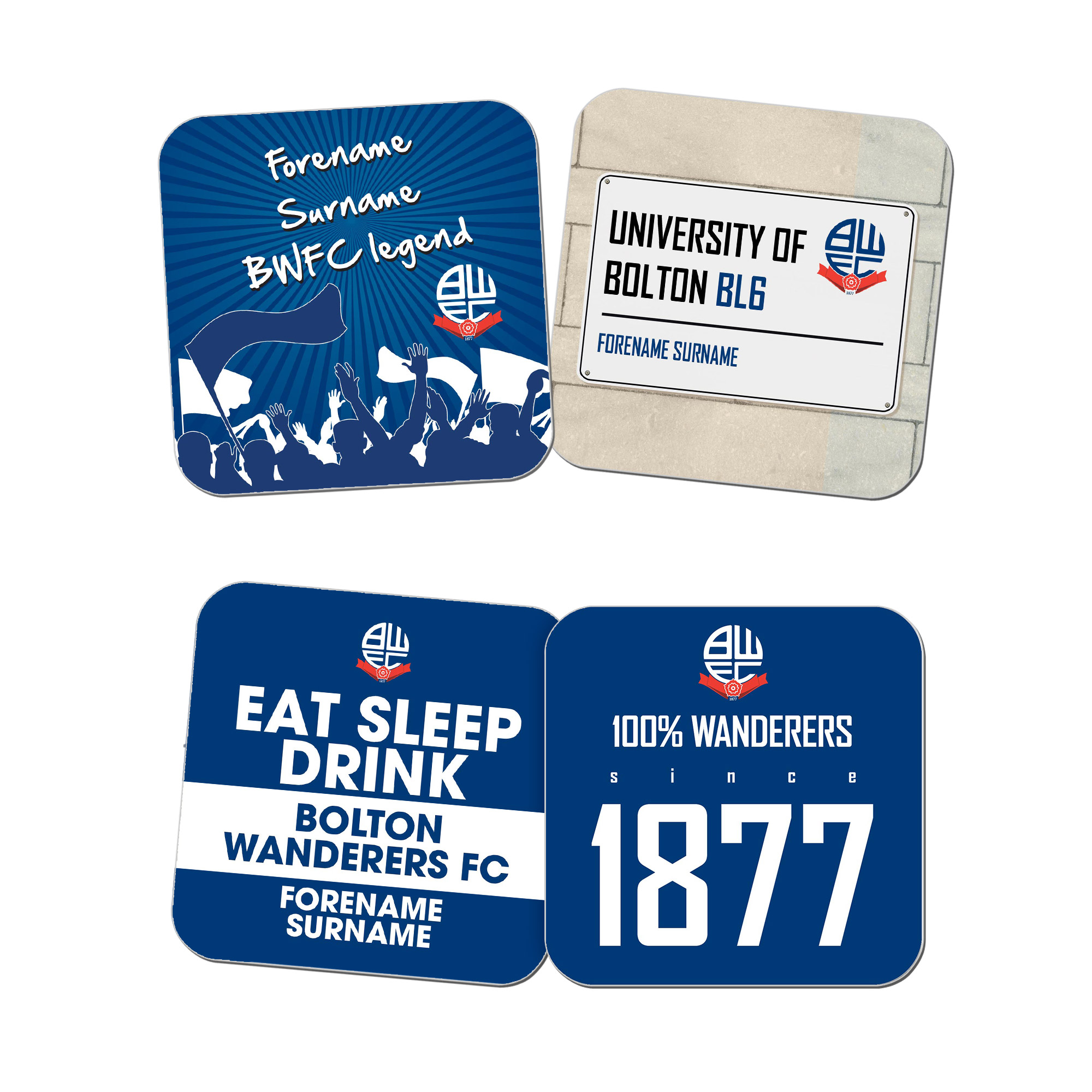 Bolton Wanderers FC Coasters