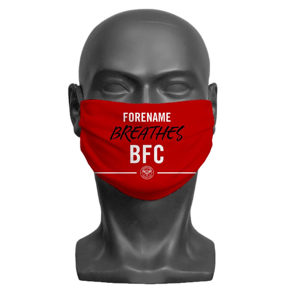 Brentford FC Breathes Adult Face Mask (Large)