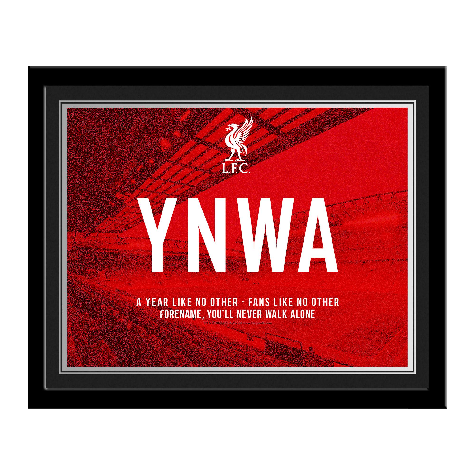 Liverpool FC Champions 2020 YNWA Photo Framed