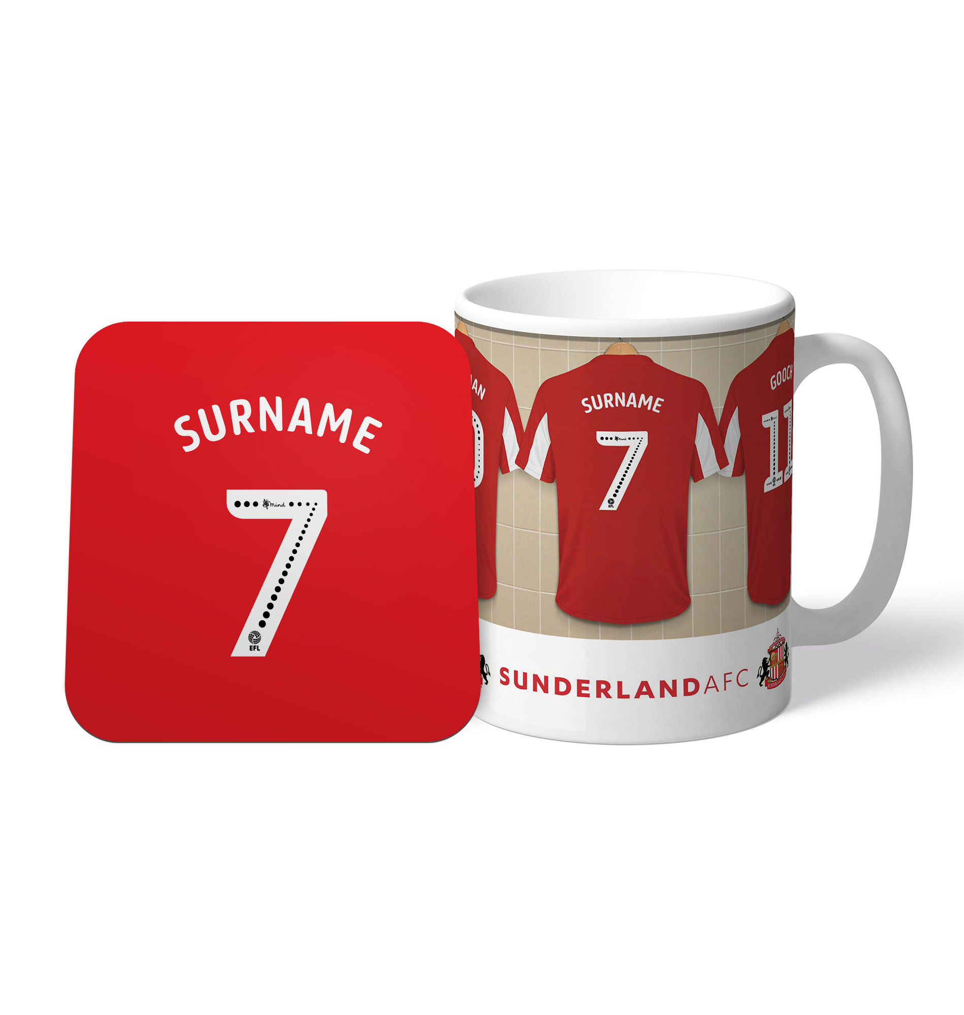 Sunderland Dressing Room Mug & Coaster Set