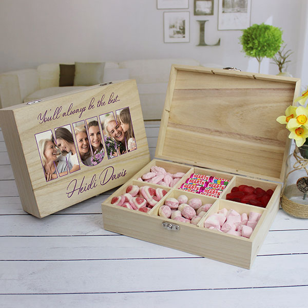 MUM Photo Gift - 6 Compartment Sweet Box