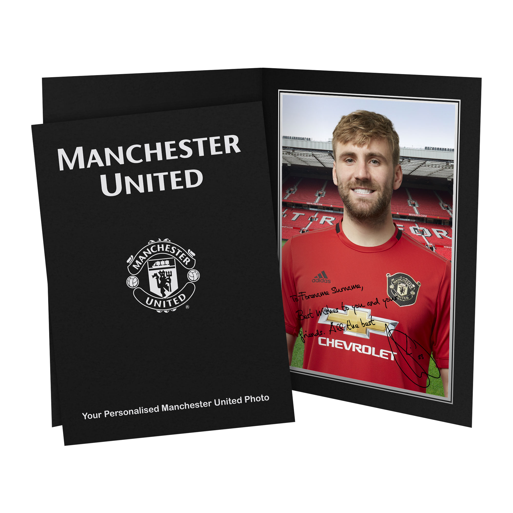 Manchester United FC Shaw Autograph Photo Folder