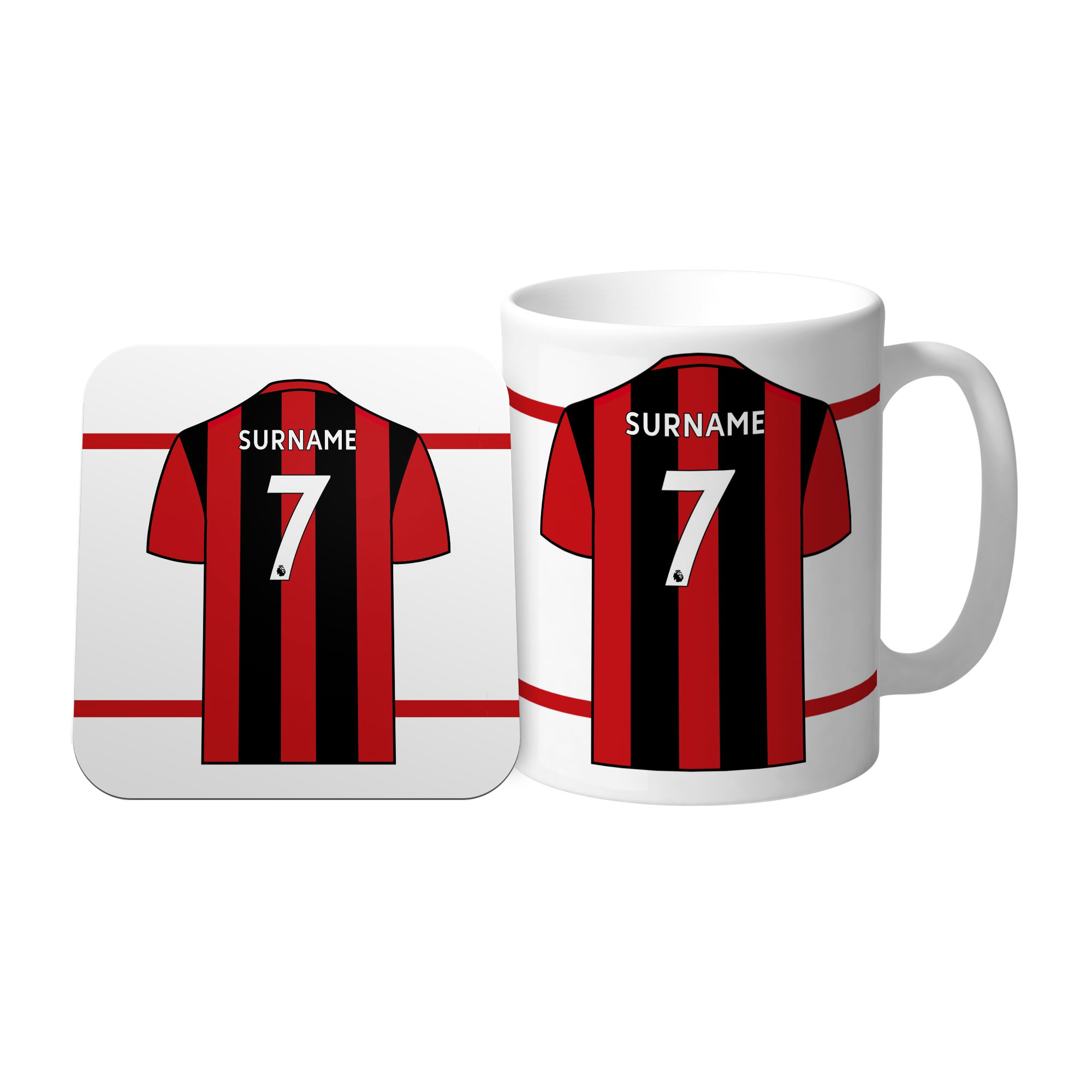 AFC Bournemouth Shirt Mug & Coaster Set