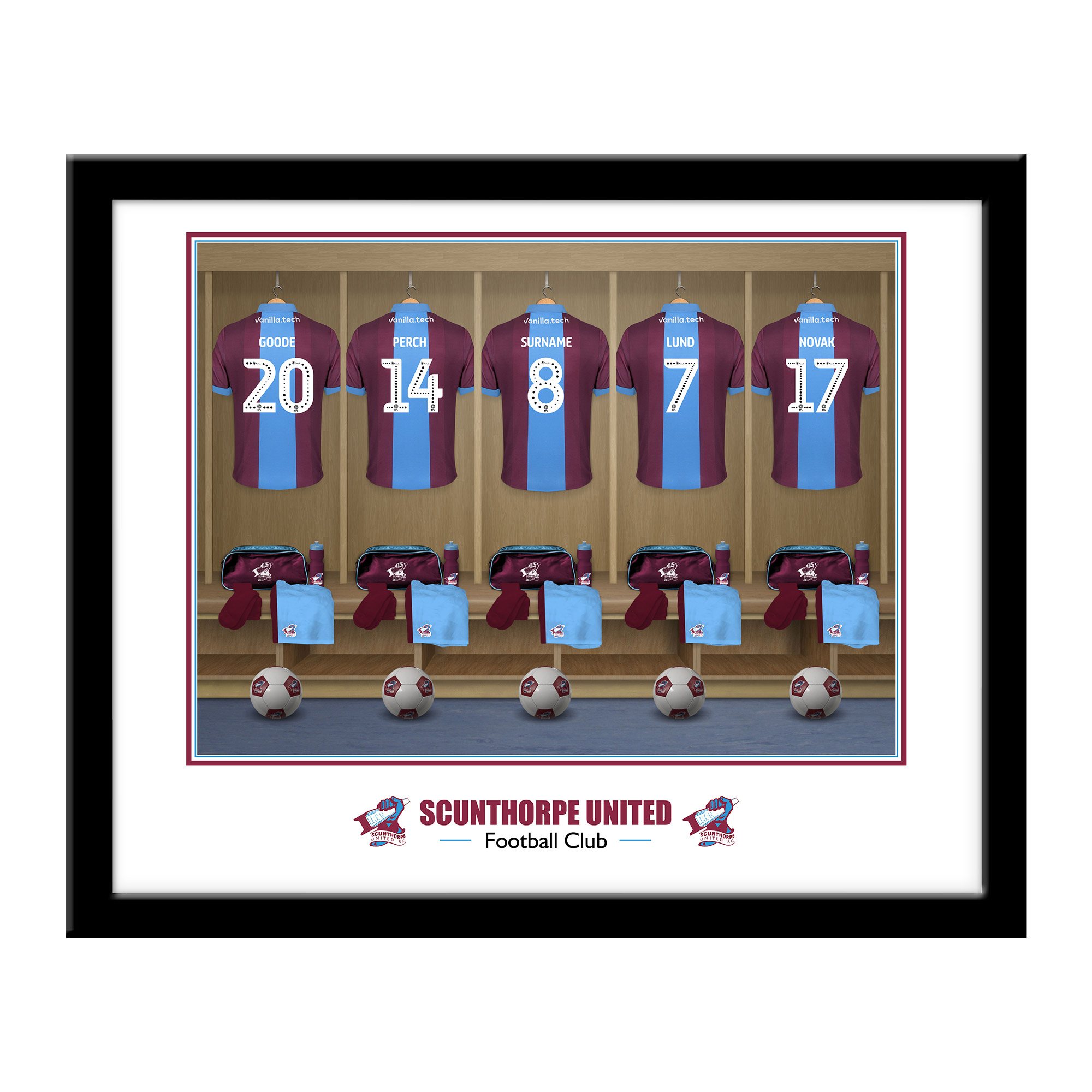 Scunthorpe United FC Dressing Room Framed Print