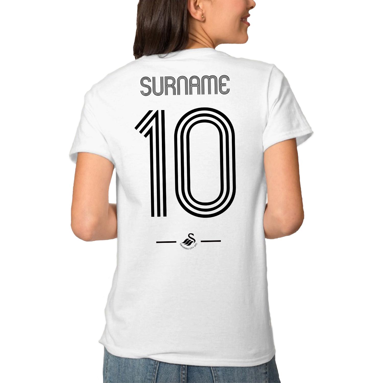 Swansea City AFC Retro Shirt Ladies T-Shirt