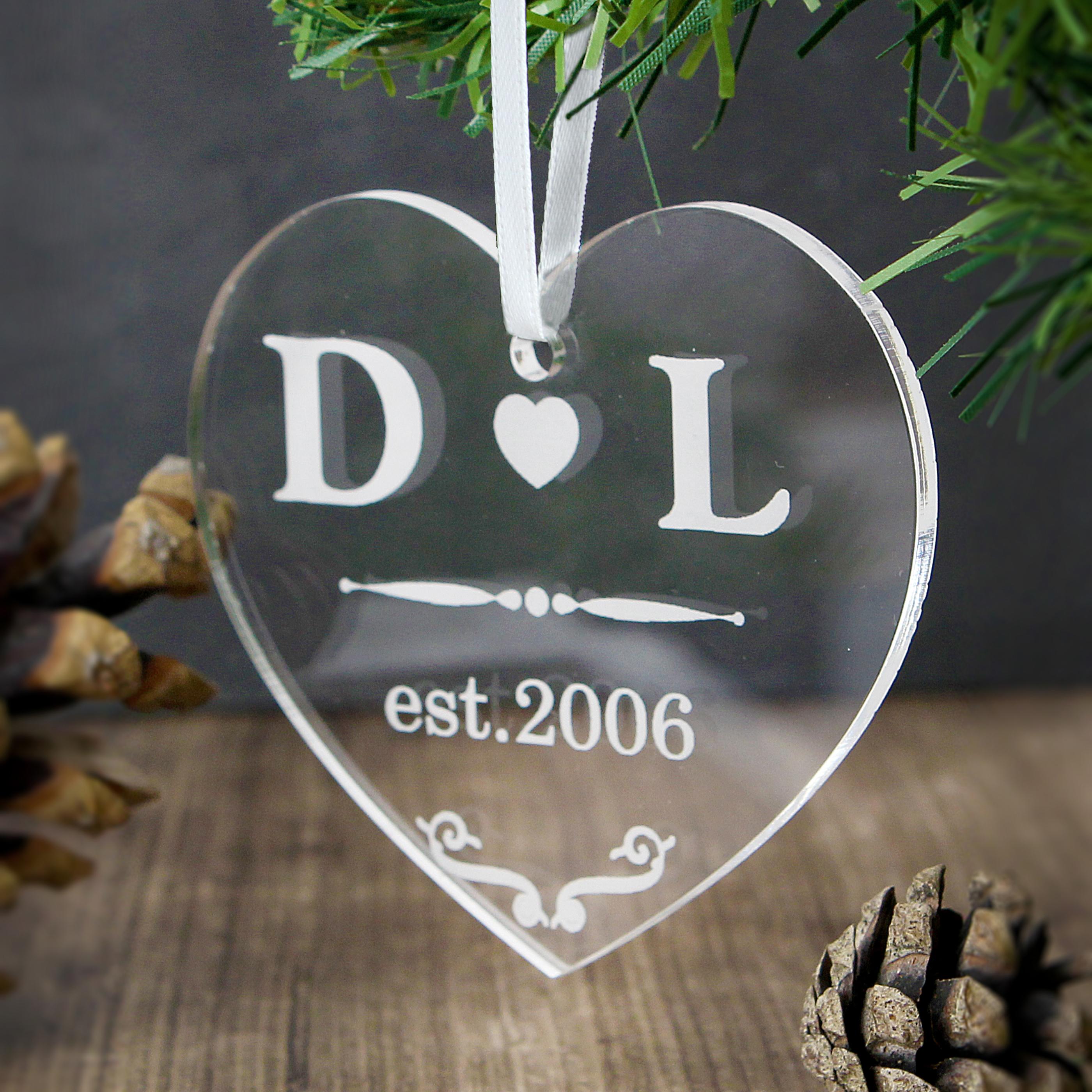 Personalised Acrylic Heart Decoration