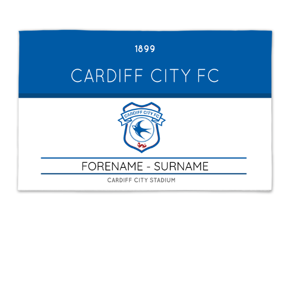 Cardiff City FC Minimal Ticket 8ft x 5ft Banner