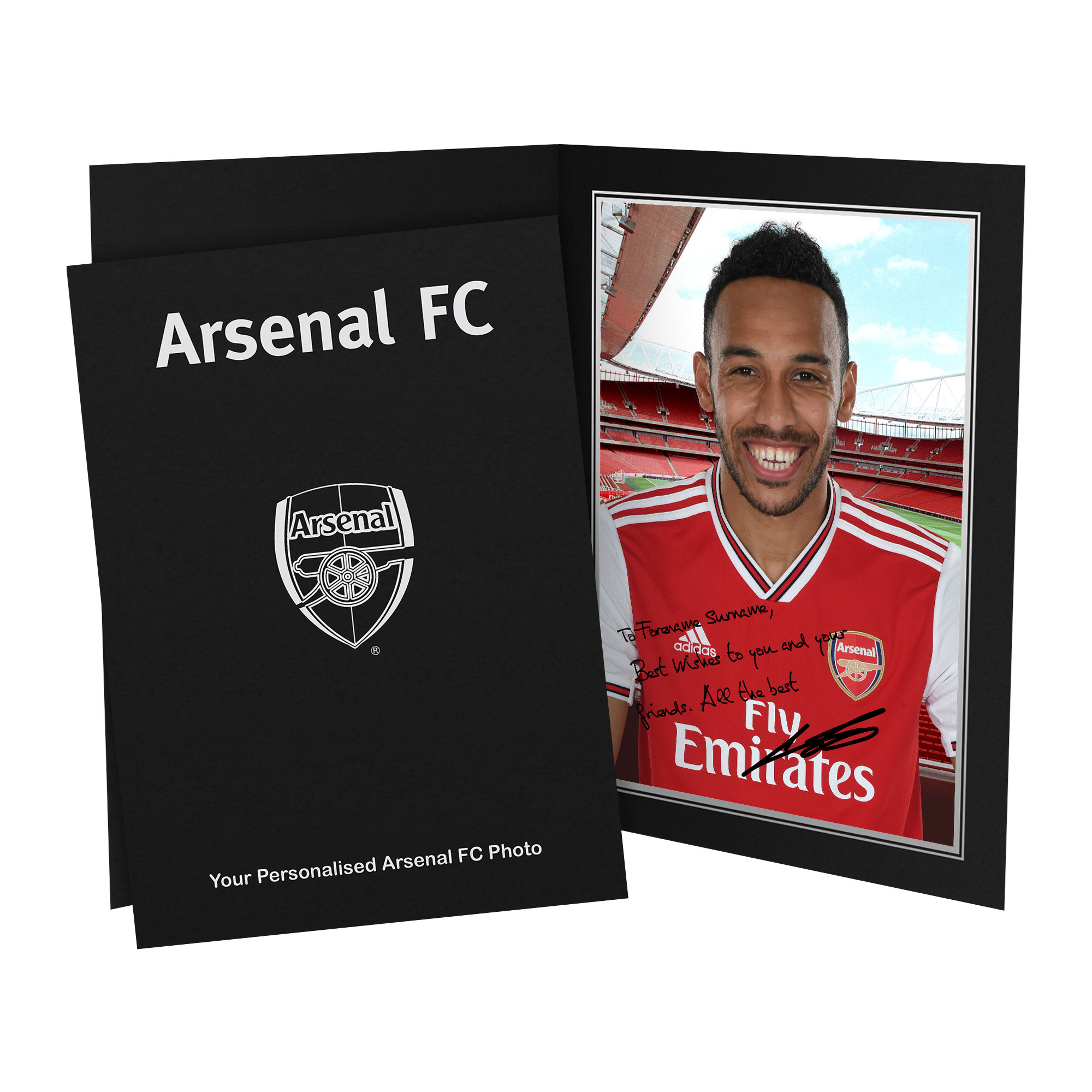 Arsenal FC Aubameyang Autograph Photo Folder