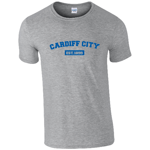 Cardiff City FC Varsity Established T-Shirt