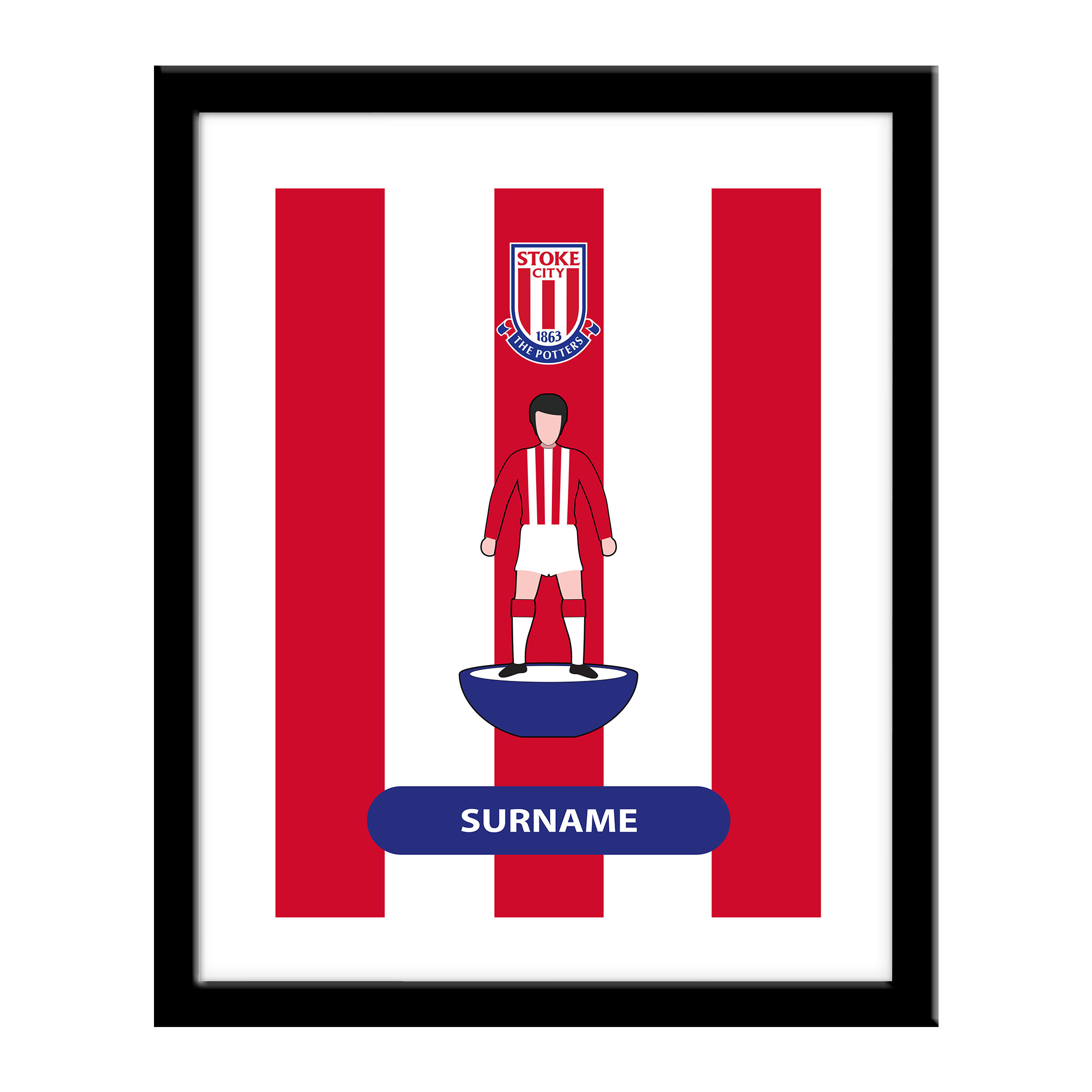 Stoke City FC Player Figure Print