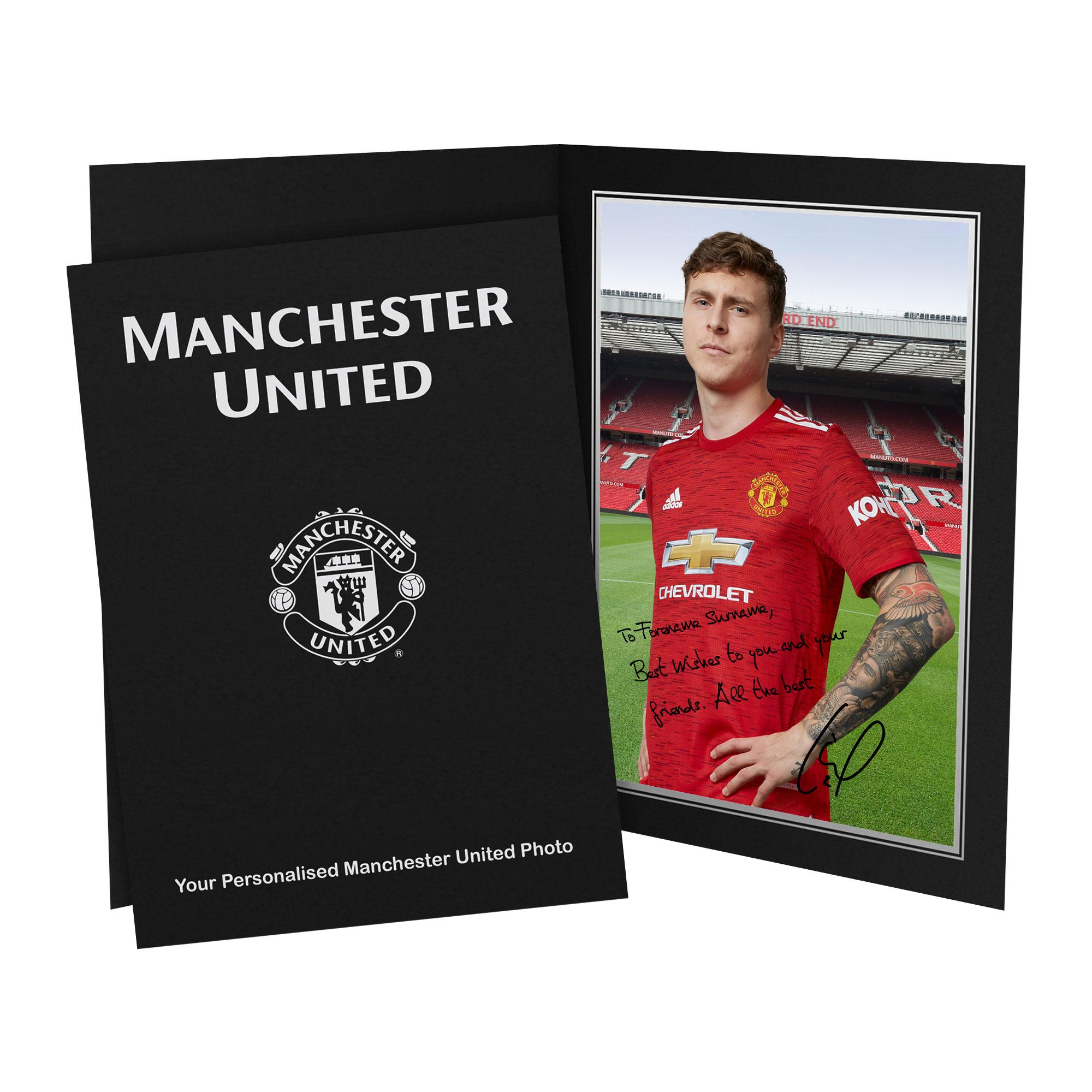 Manchester United FC Lindelof Autograph Photo Folder