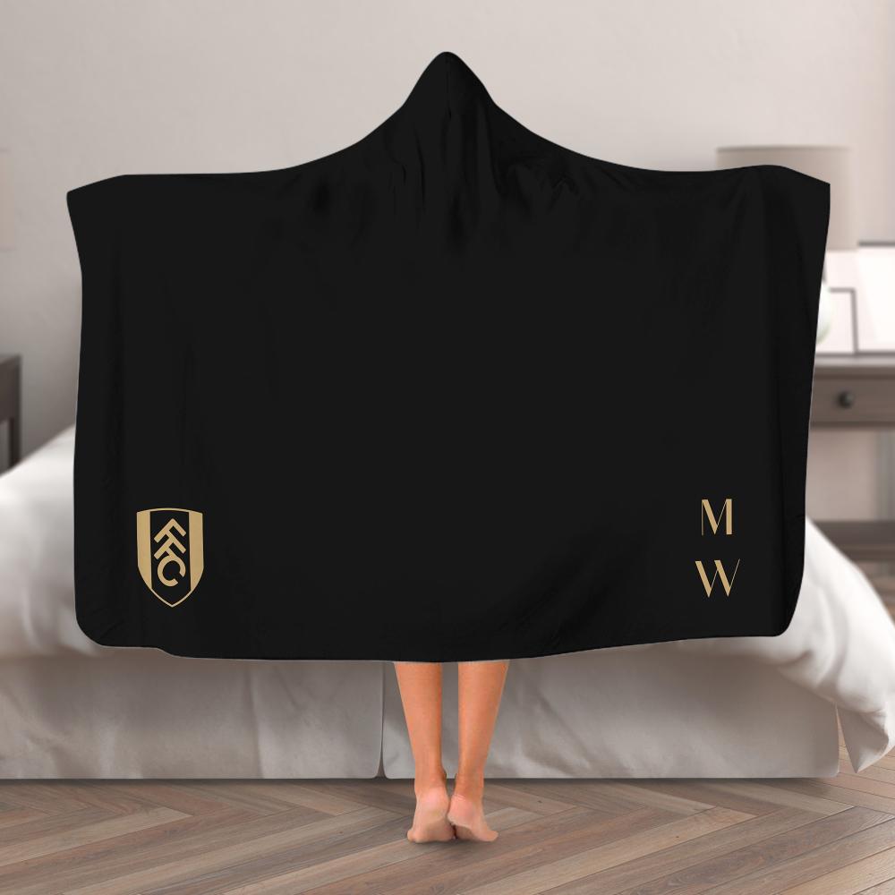 Fulham FC Initials Hooded Blanket (Adult)