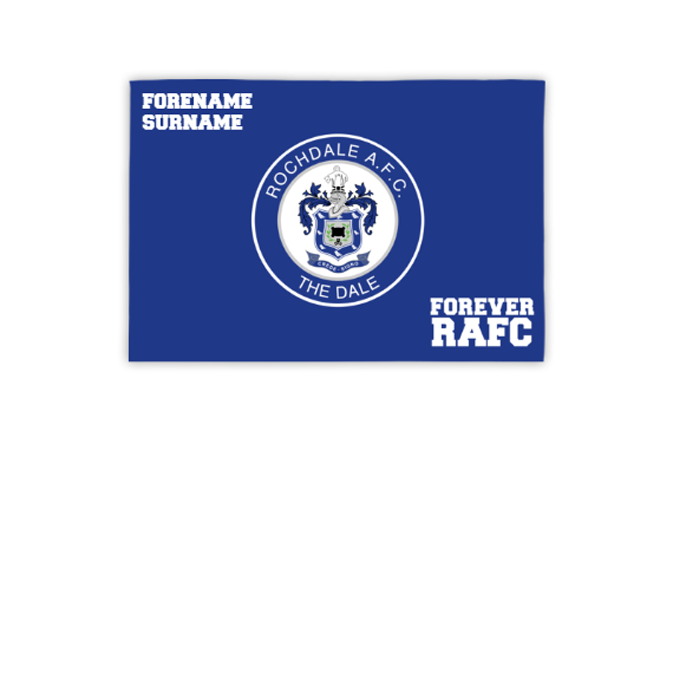 Rochdale AFC Forever 3ft x 2ft Banner