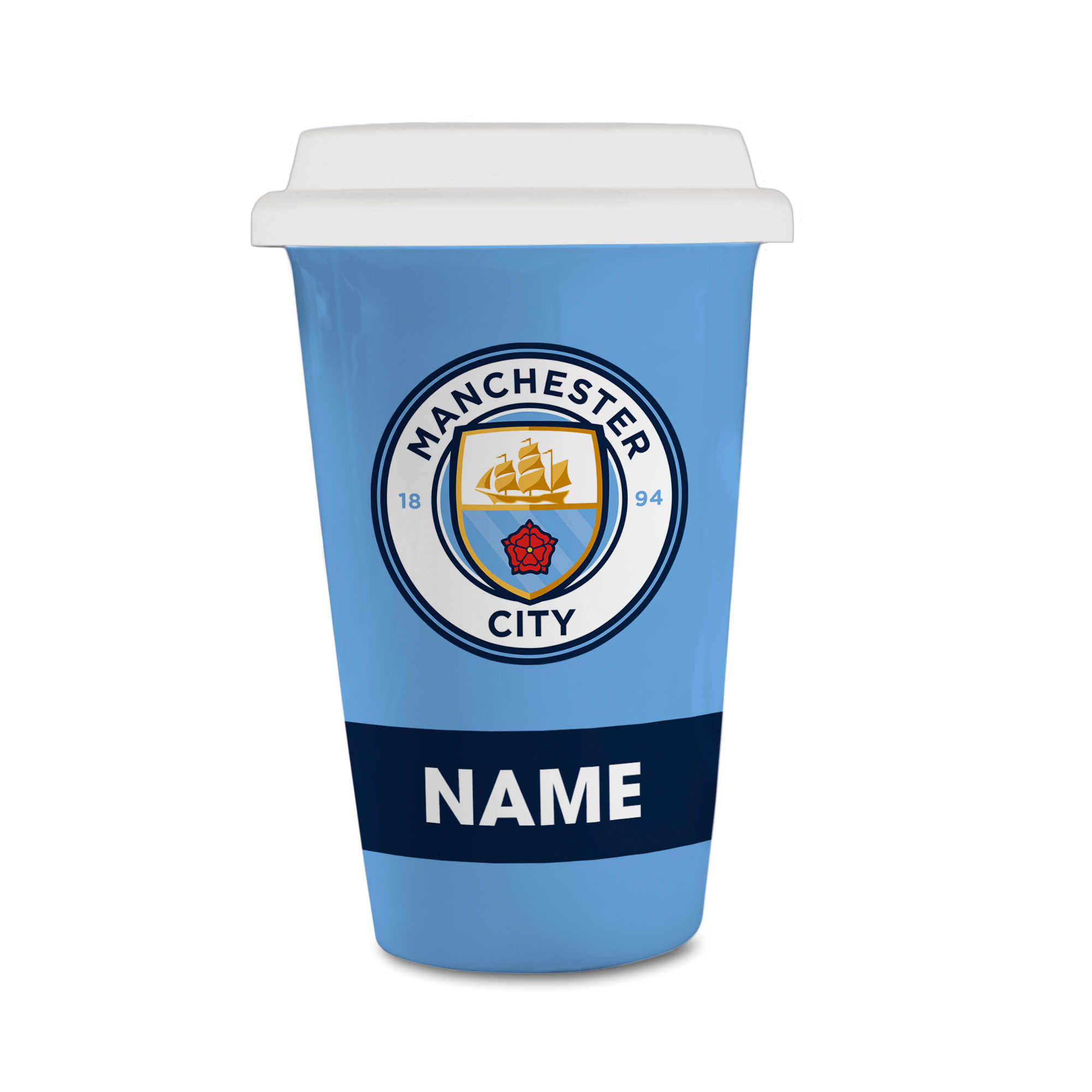 Manchester City FC Eat Sleep Drink  Reusable Cup