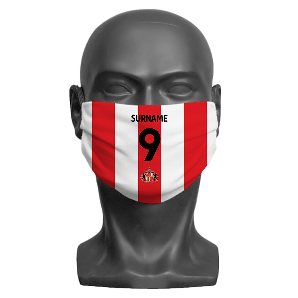 Sunderland AFC Back of Shirt Adult Face Mask (Large)