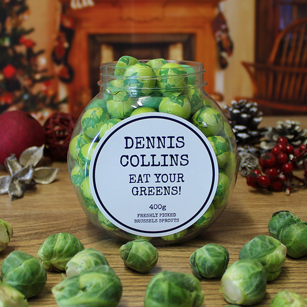 Chocolate Brussels Sprouts Jar
