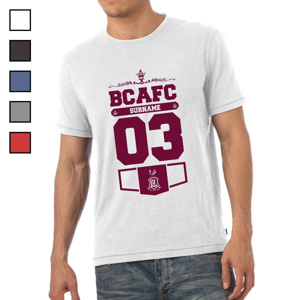 Bradford City AFC Mens Club T-Shirt