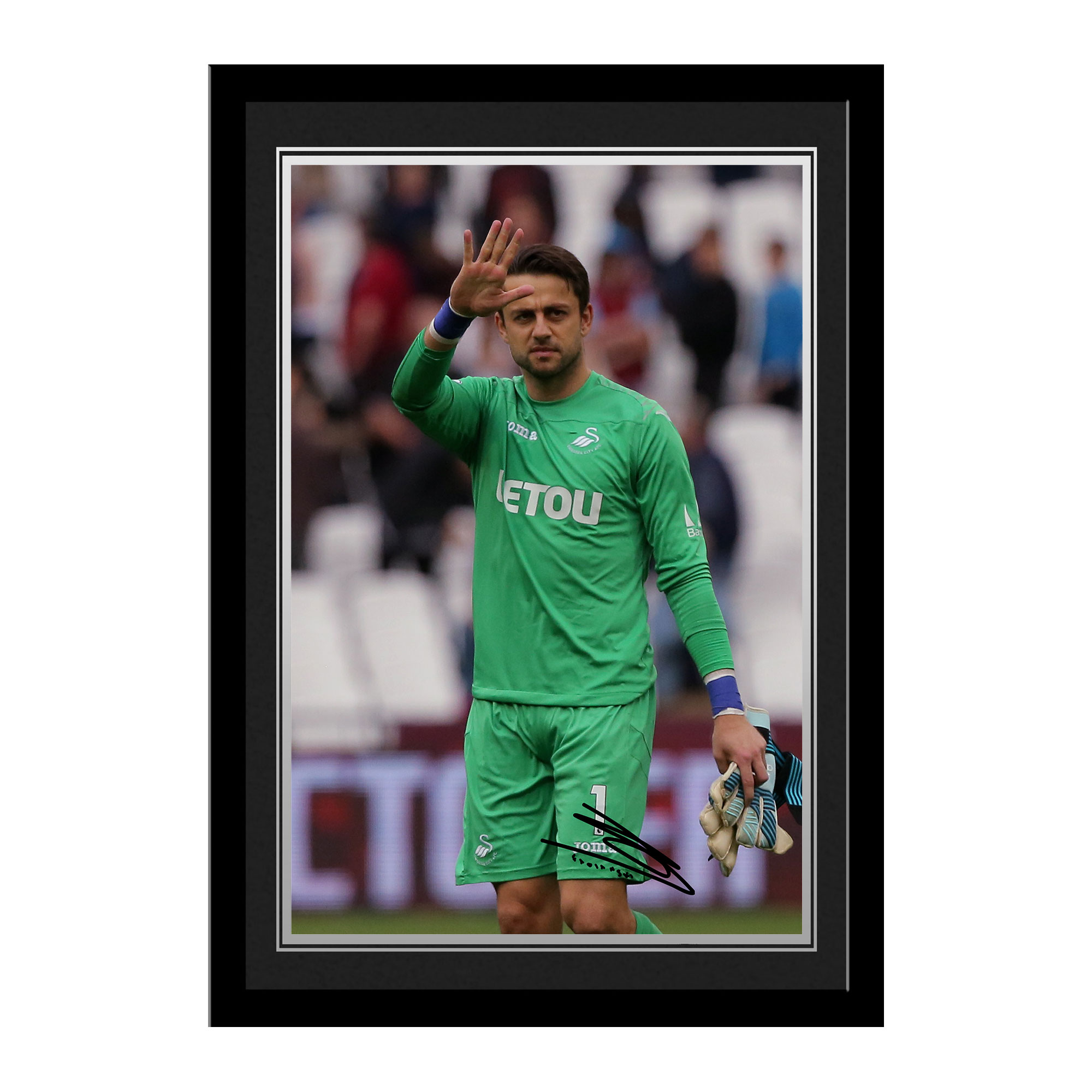 Swansea City AFC Fabianski Autograph Photo Framed