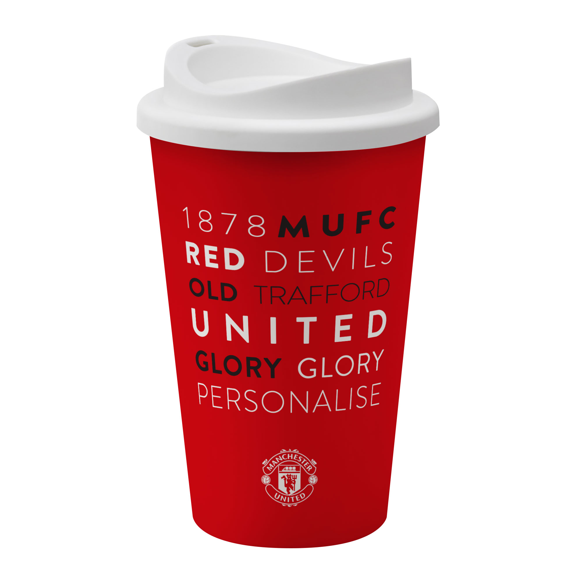 Manchester United FC Word Collage Reusable Cup
