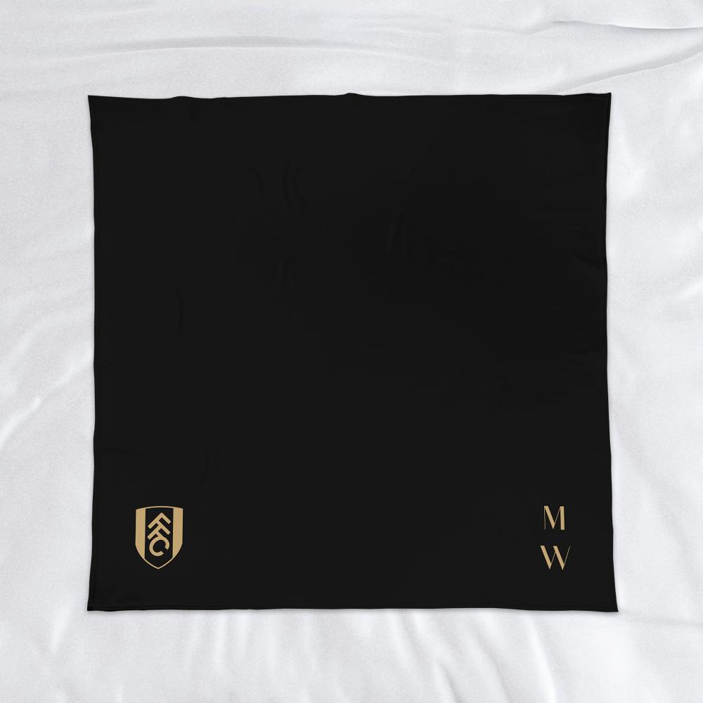 Fulham FC Initials Fleece Blanket