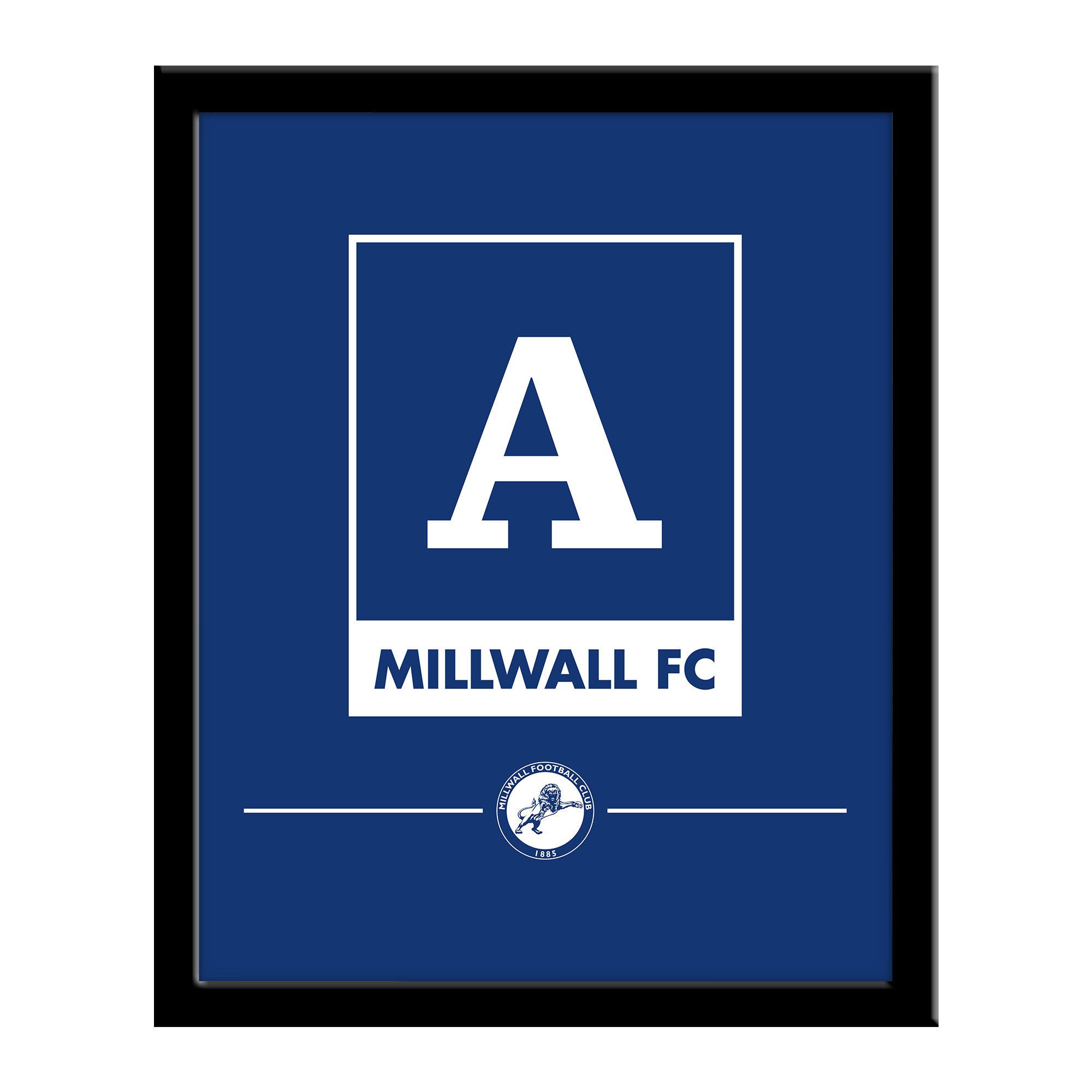 Millwall Monogram 290 x 360 Framed Print