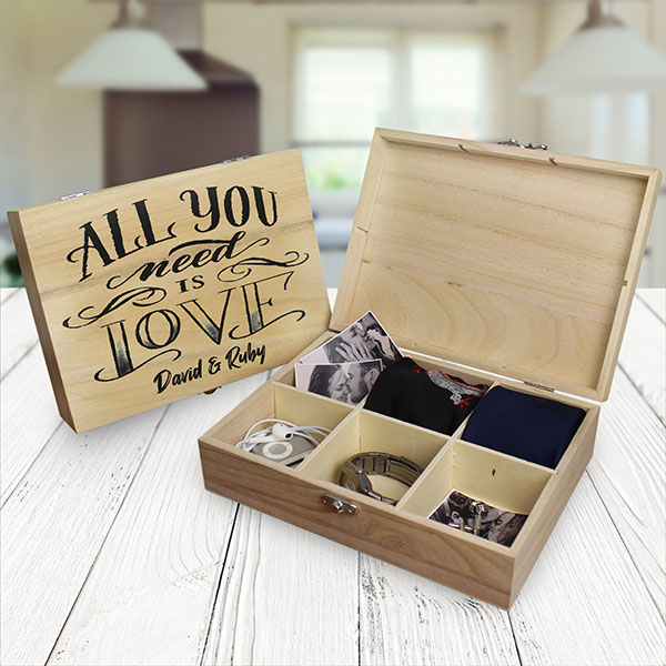 All You Need Is Love 6 Compartment Keepsake Box