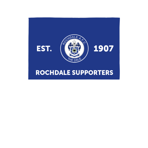 Rochdale AFC Supporters 3ft x 2ft Banner