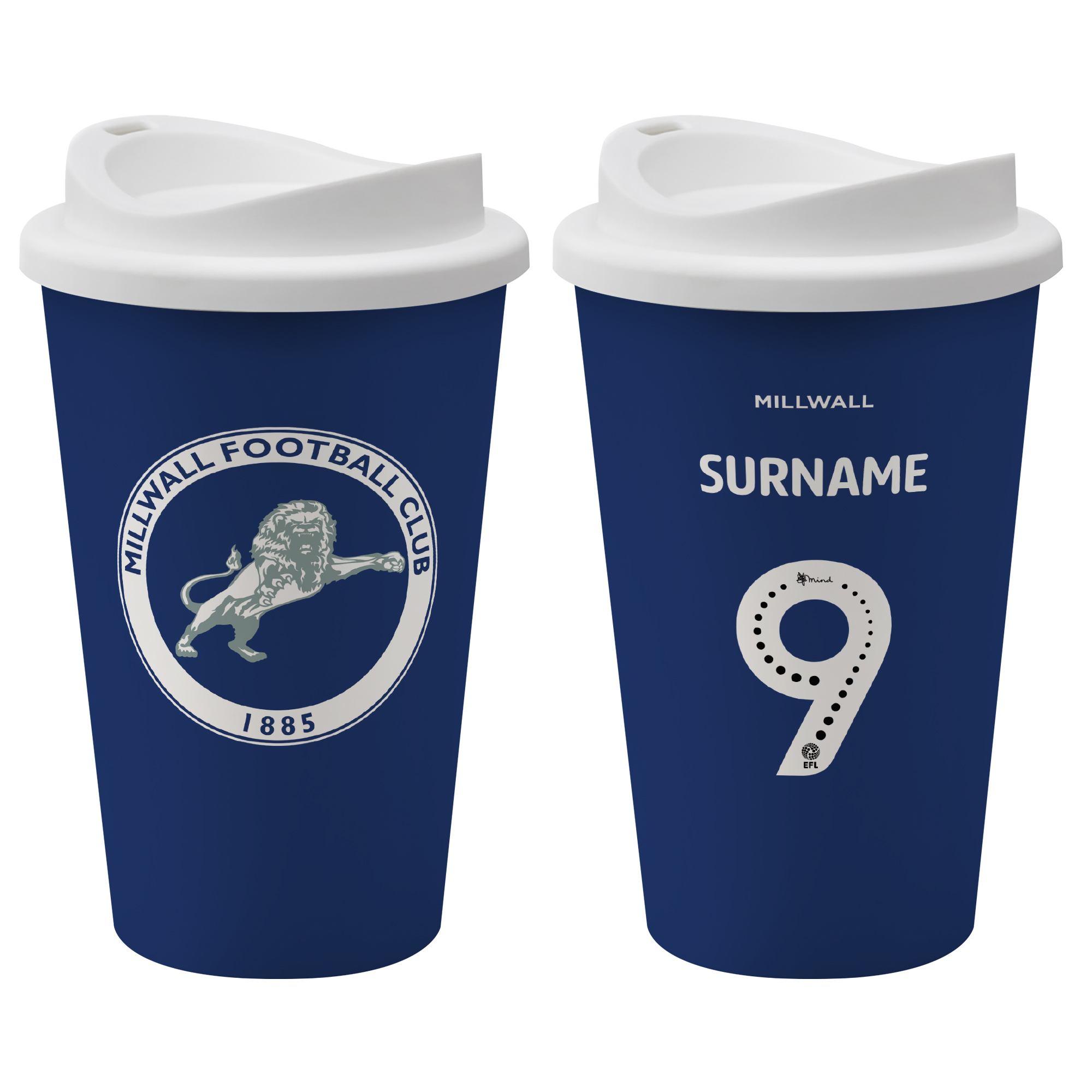 Millwall FC Back of Shirt Reusable Cup