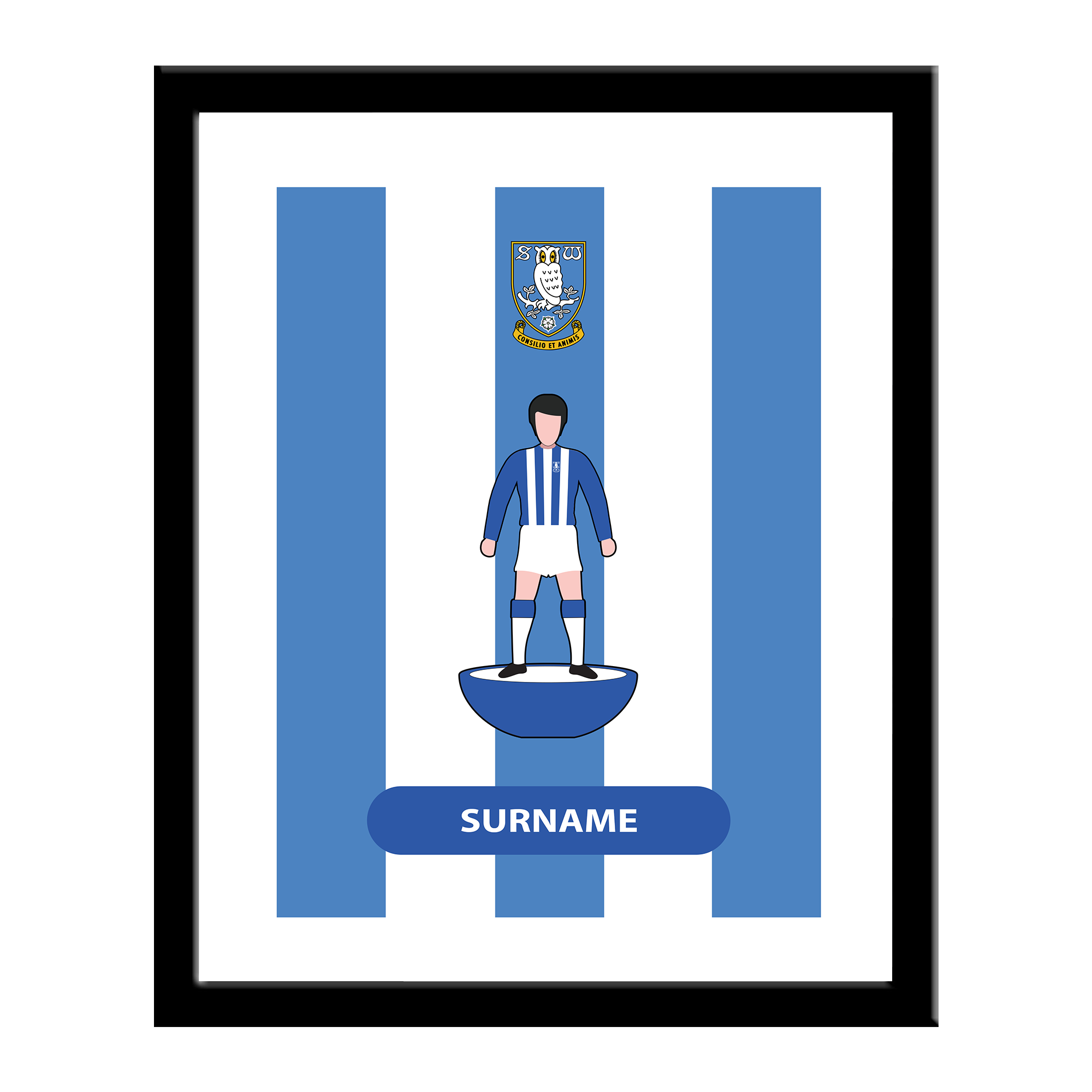 Sheffield Wednesday Player Figure Print