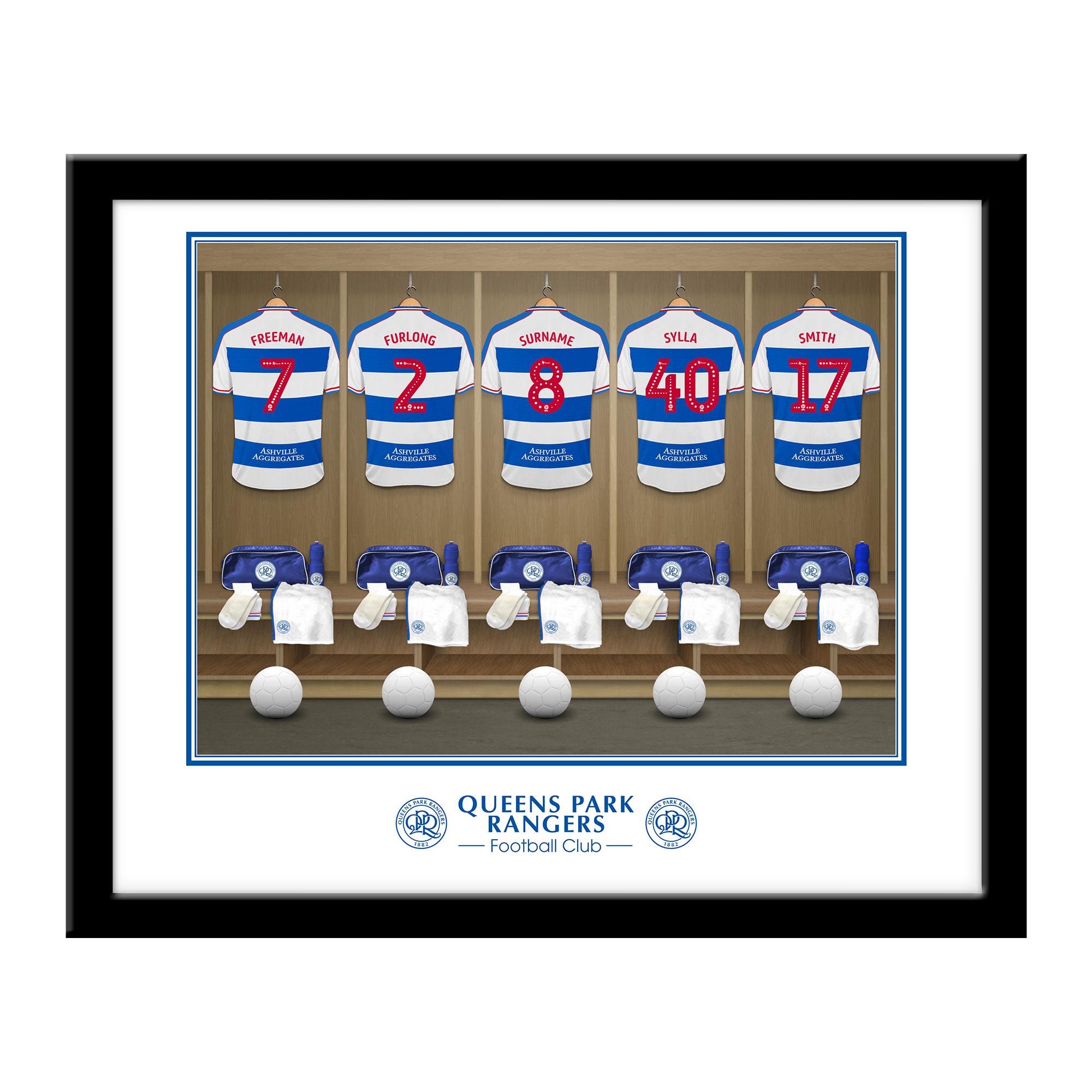 Queens Park Rangers FC Dressing Room Framed Print