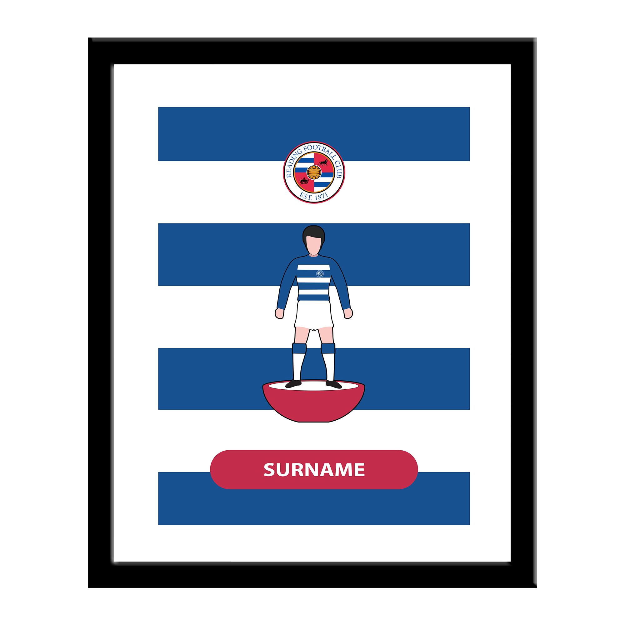 Reading FC Player Figure Print