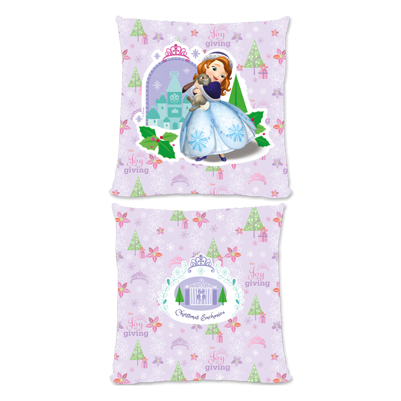 Disney Sofia The First Christmas Design Large Fiber Cushion